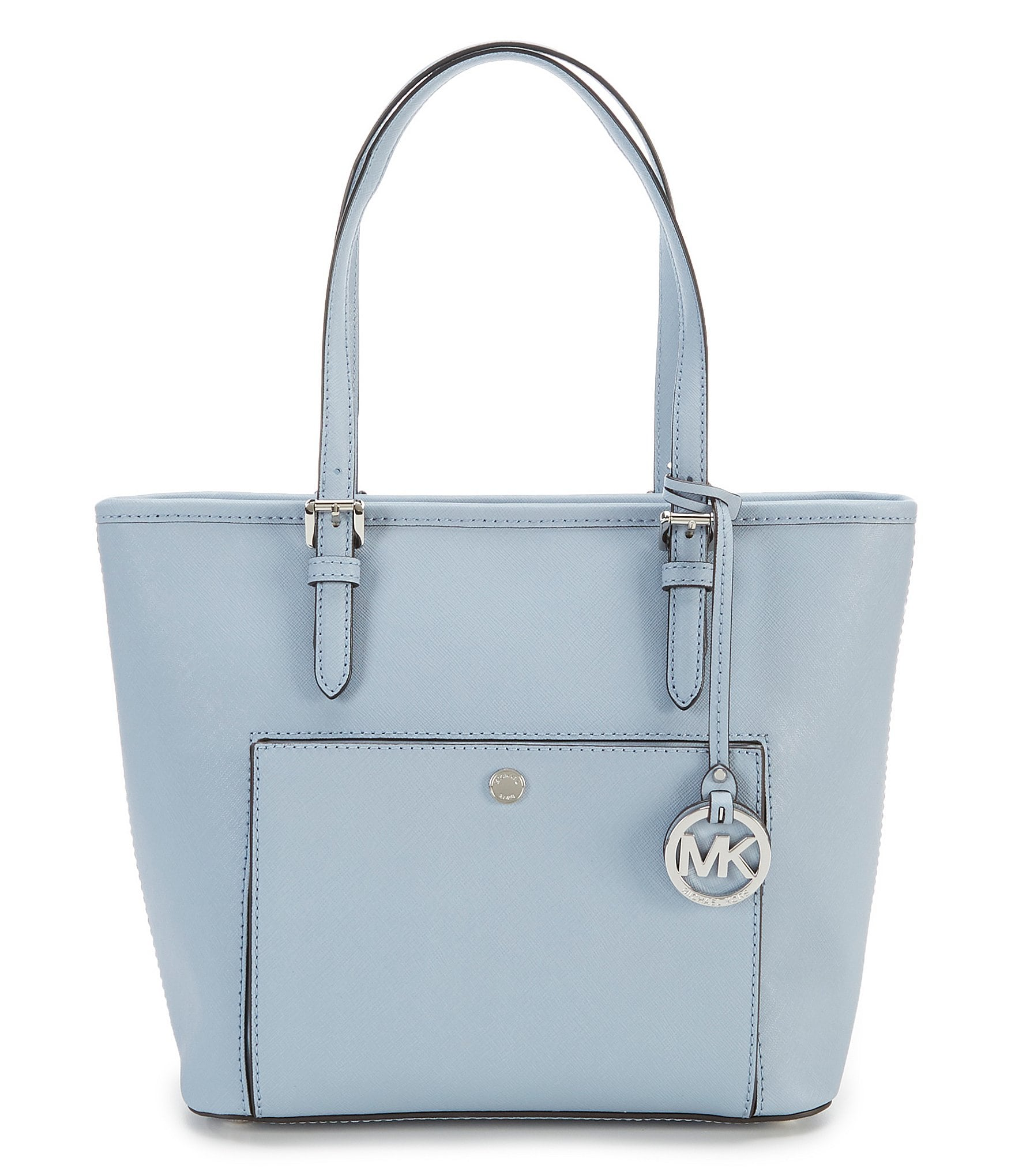 Bolsa Michael Kors Jet Set Saffiano : Michael kors jet set medium snap pocket tote