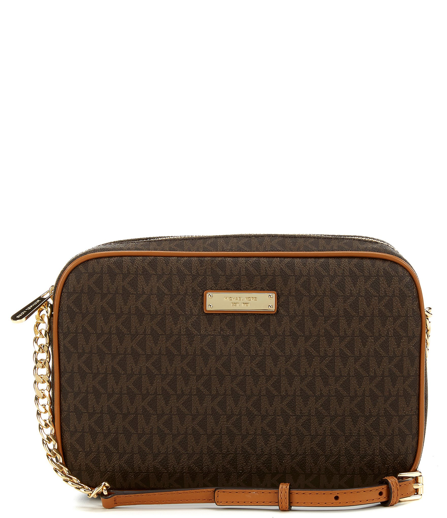 Michael Kors Jet Set Signature Medium Crossbody Bag