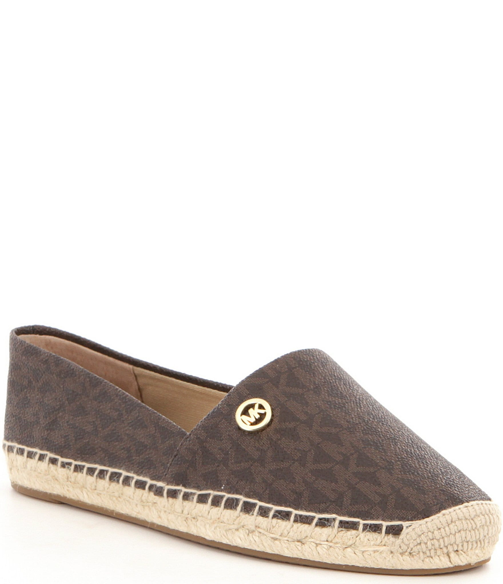 michael michael kors kendrick logo printed slip on espadrilles dillards. Black Bedroom Furniture Sets. Home Design Ideas