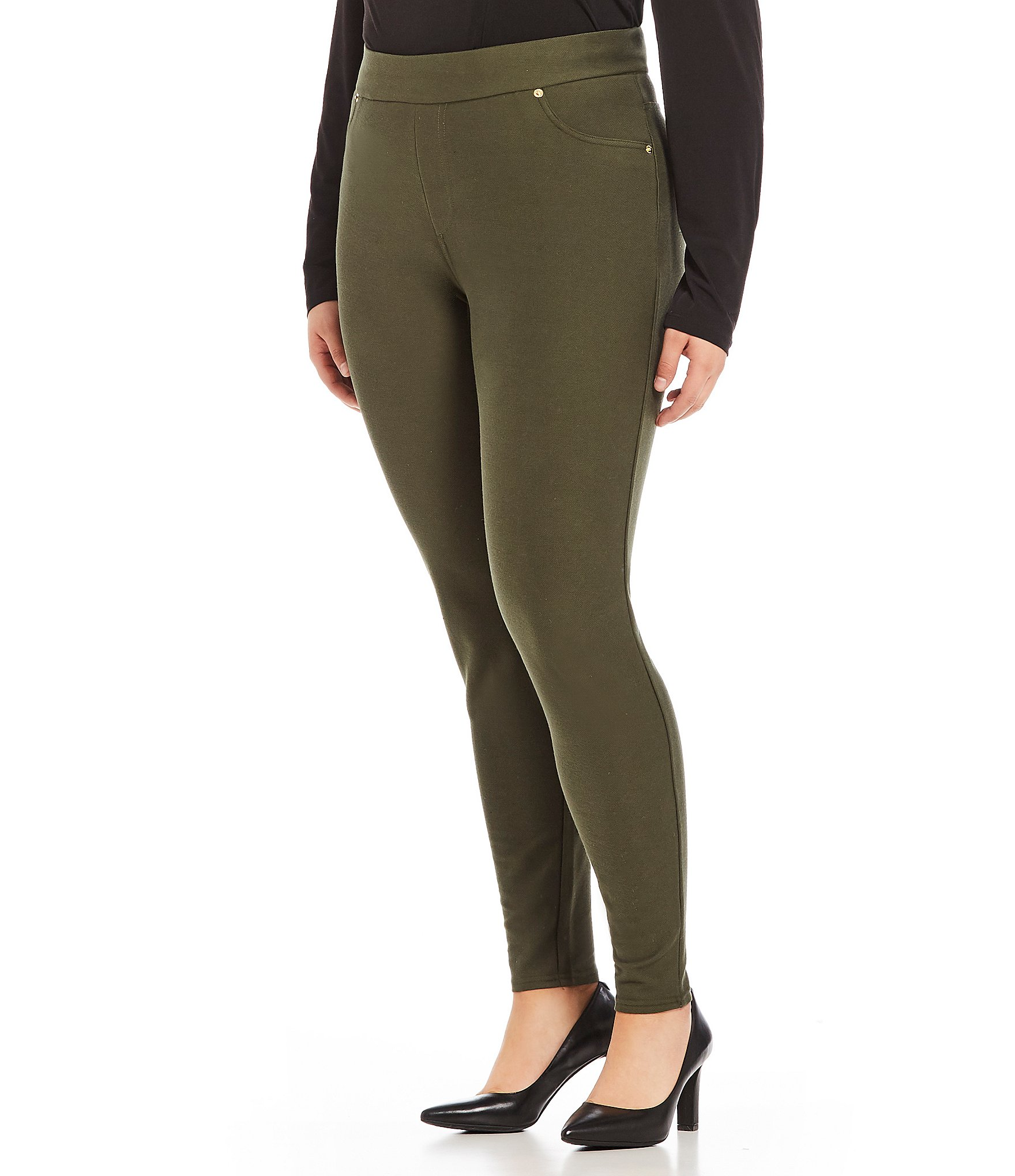 Circle Track Supply >> MICHAEL Michael Kors Plus Stretch Knit Twill Leggings ...