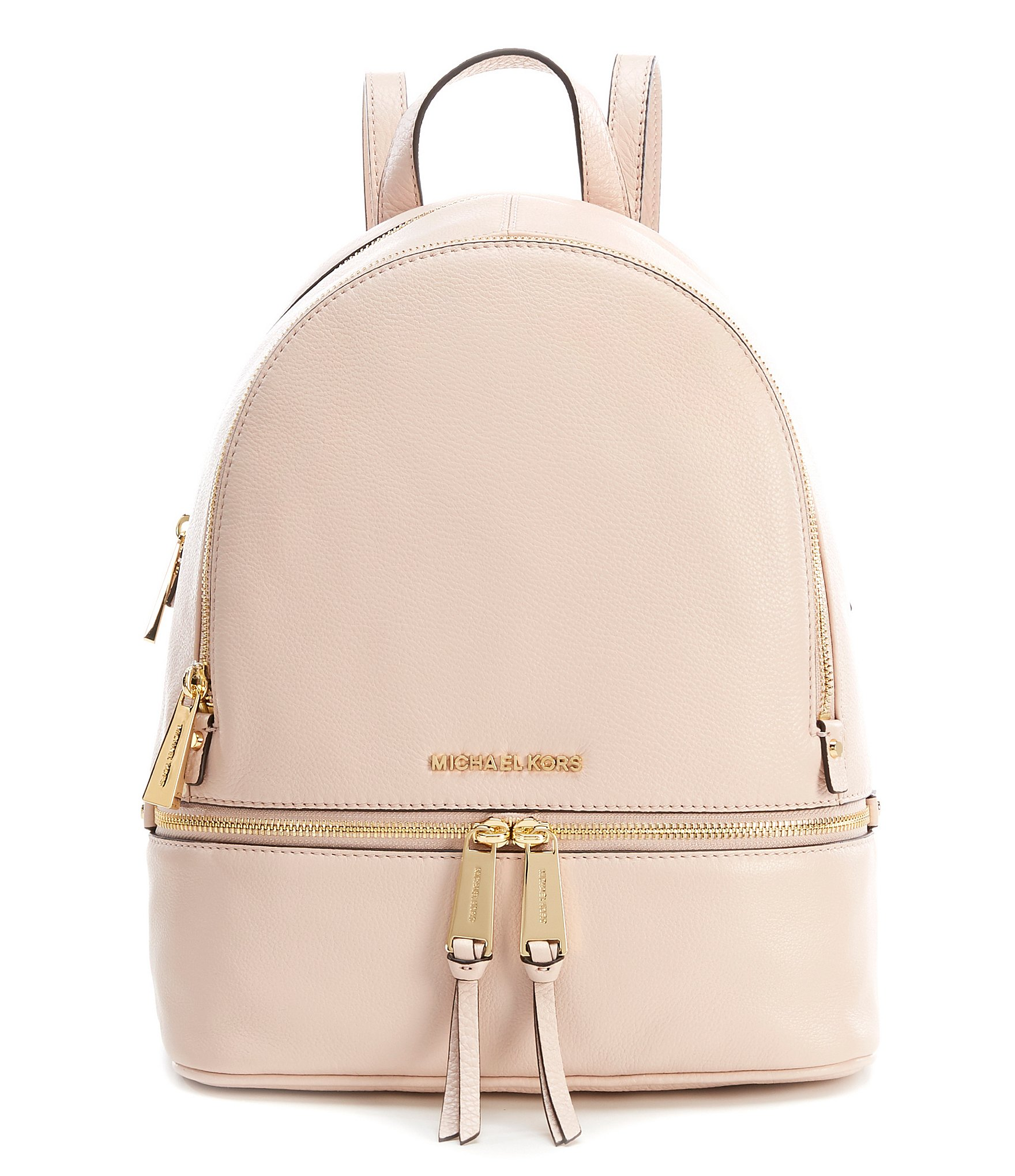 check out aaf62 48733 MICHAEL Michael Kors Rhea Zip Medium Pebble Leather Backpack   Dillard s