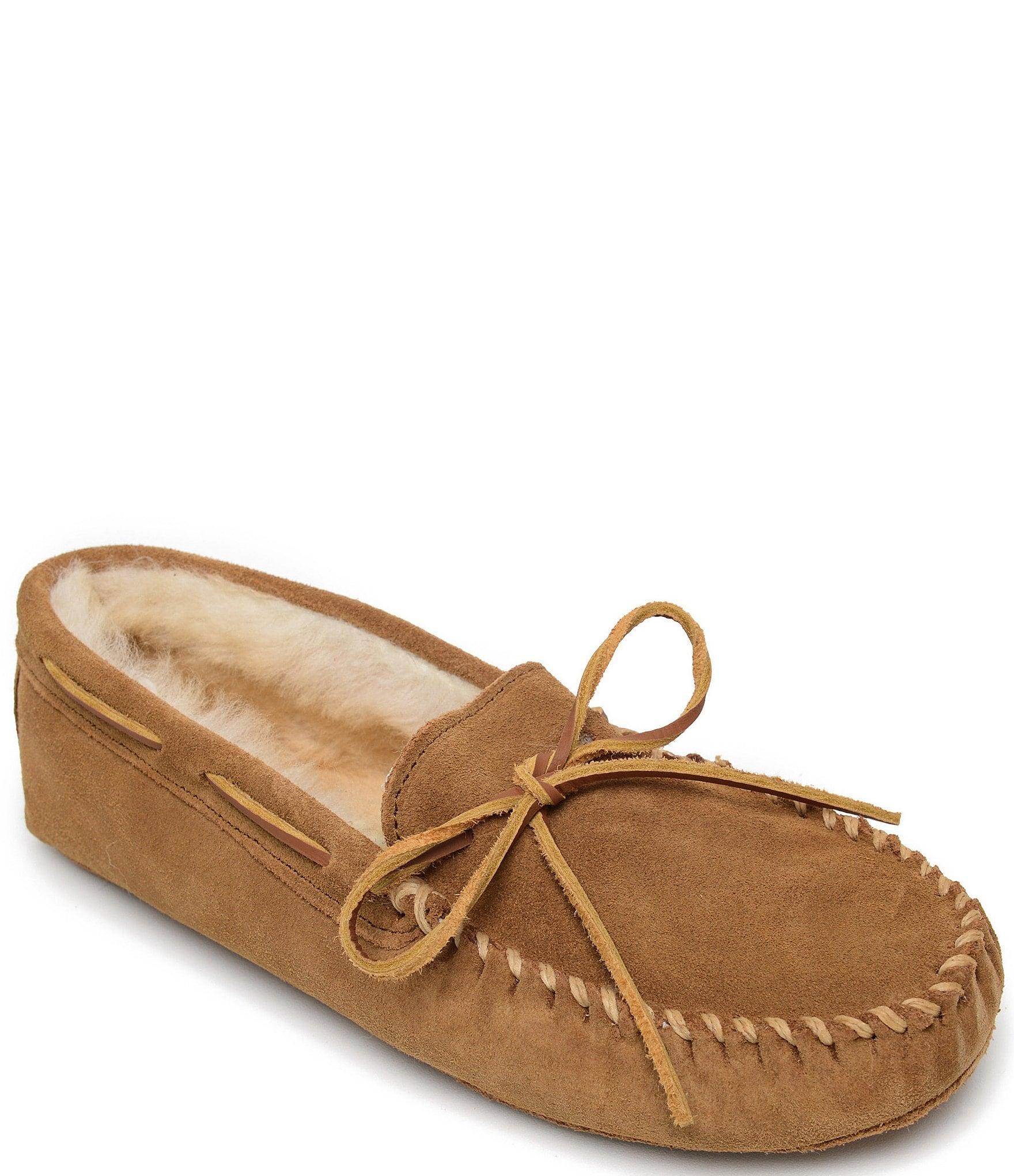 Sheepskin Softsole Moccasin Slipper