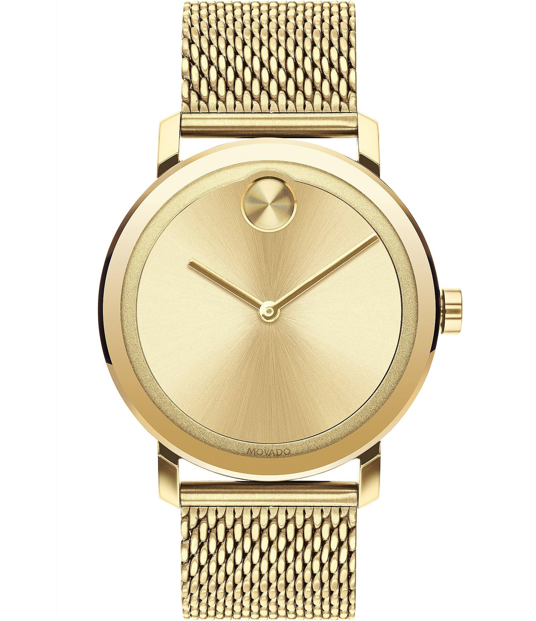 dd748c3ed8a75 Movado Bold Evolution Gold Mesh Strap Bracelet Watch | Dillard's