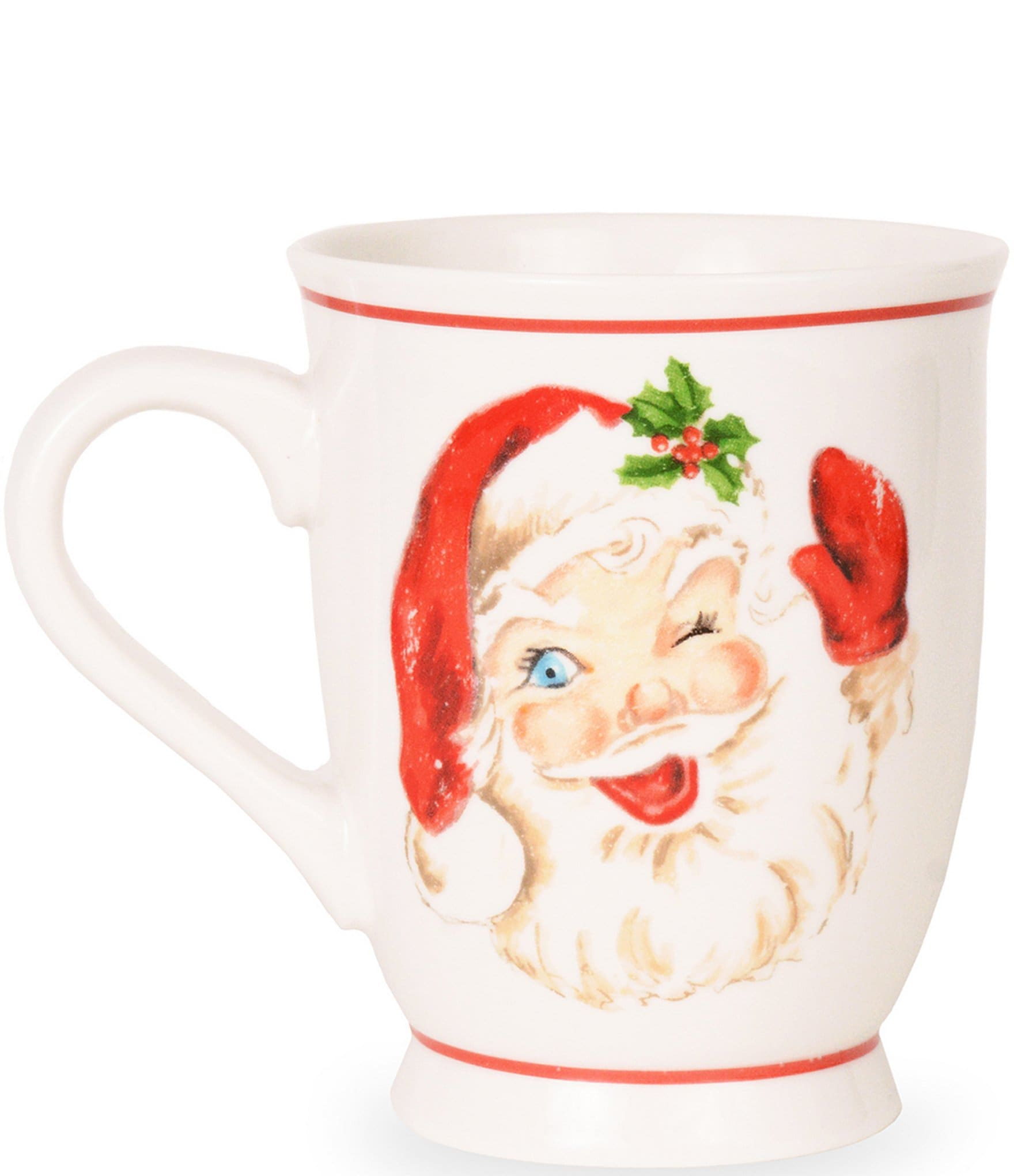 Mud Pie Holiday Vintage Santa Christmas Mug Set Of 2 Dillard S