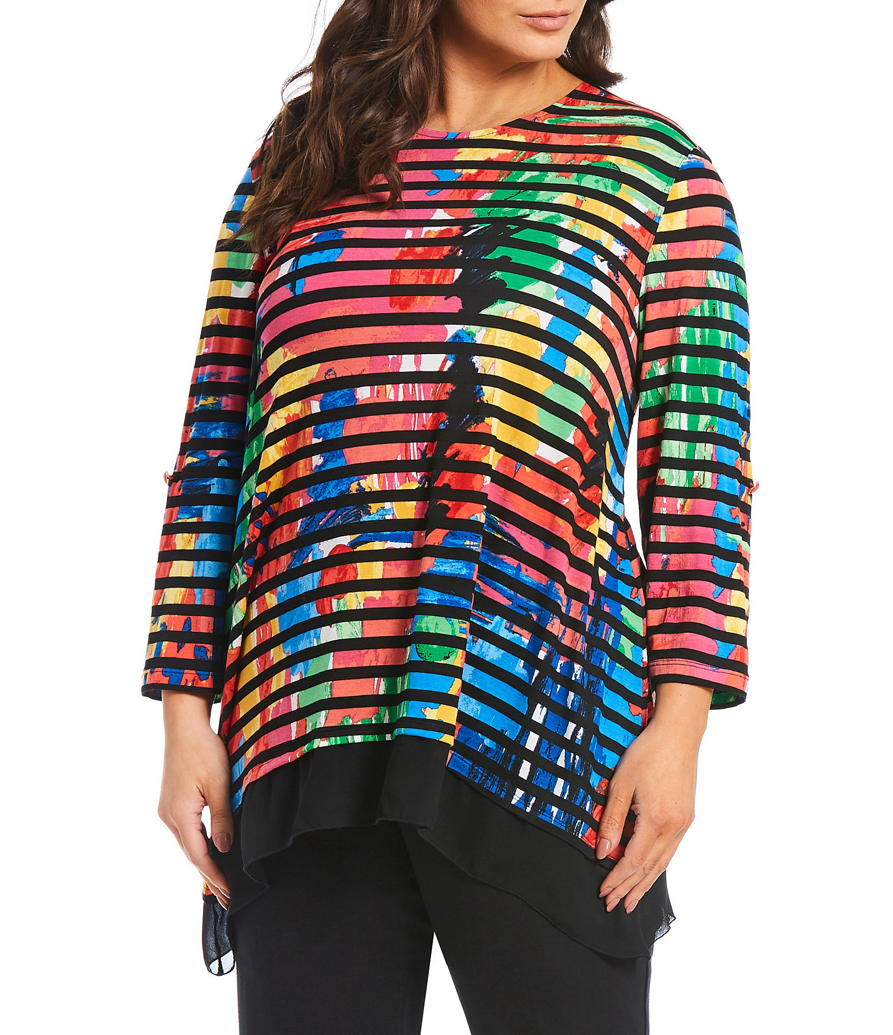 a8109791fdeeb6 Plus-Size Long-Sleeve Knit Tops