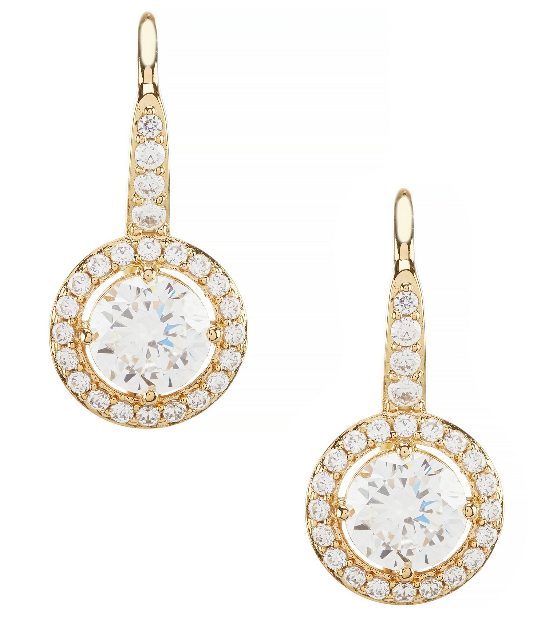 nadri cubic zirconia drop statement earrings dillards