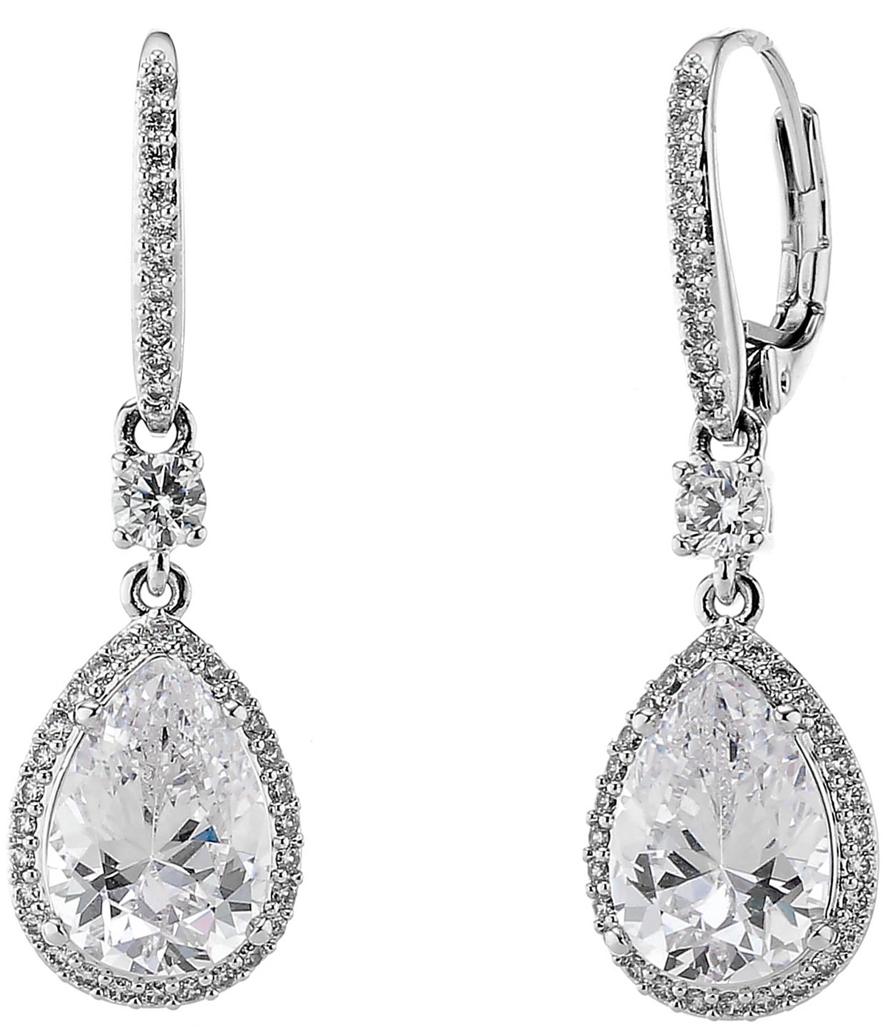 nadri cubic zirconia mini drop earrings dillards