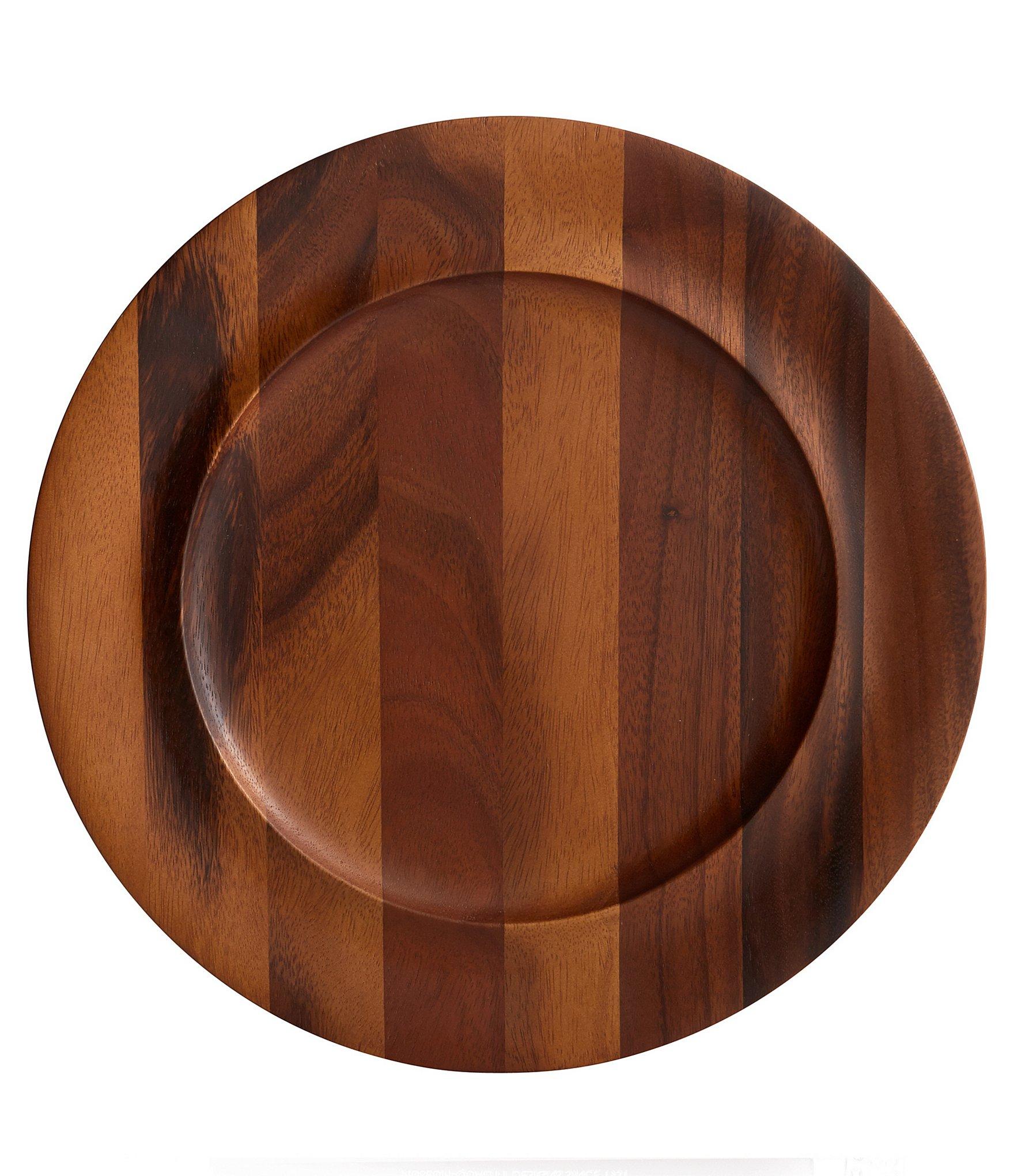 Acacia Wood Plates : Nambe skye acacia wood charger plate dillards