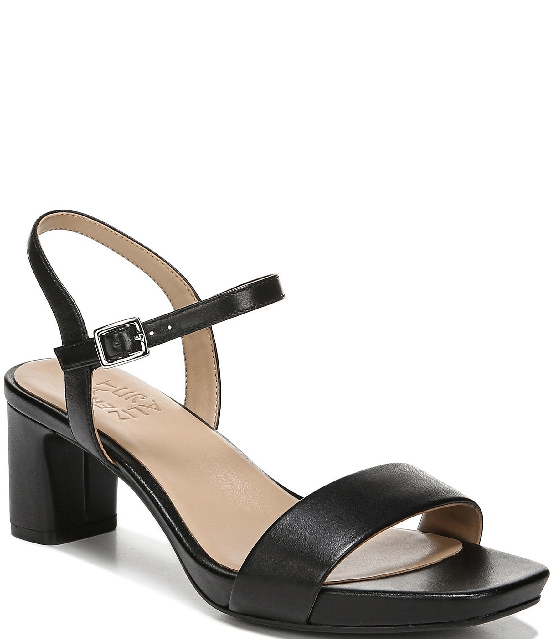 Ivy Leather Block Heel Dress Sandals by Naturalizer