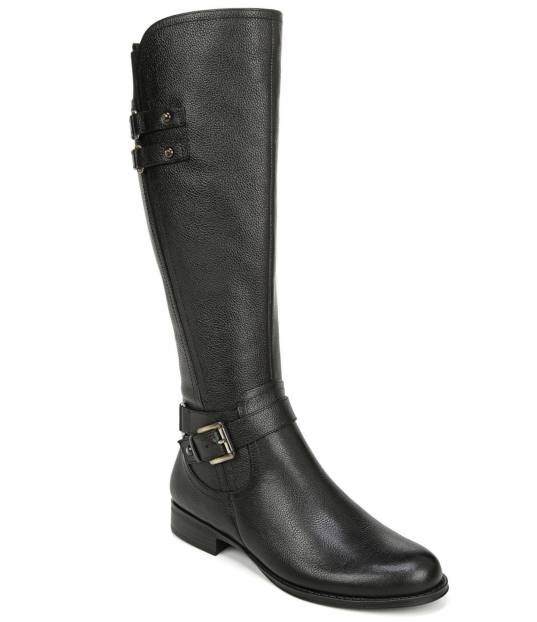 ce7feddba56 Naturalizer Jackie Wide Calf Tall Leather Riding Boots