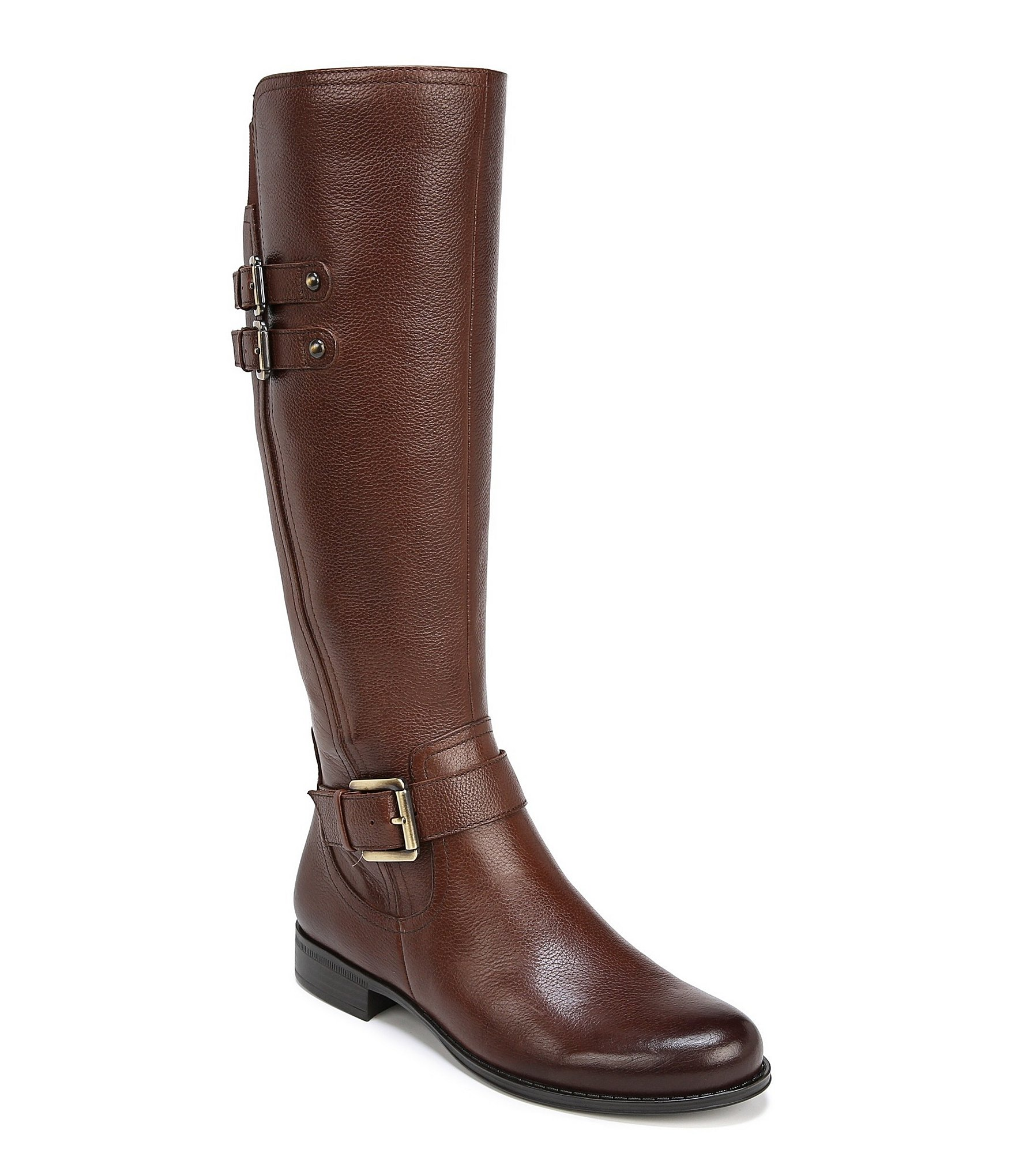 Jessie Wide Calf Buckle Detail Riding Boots by Naturalizer