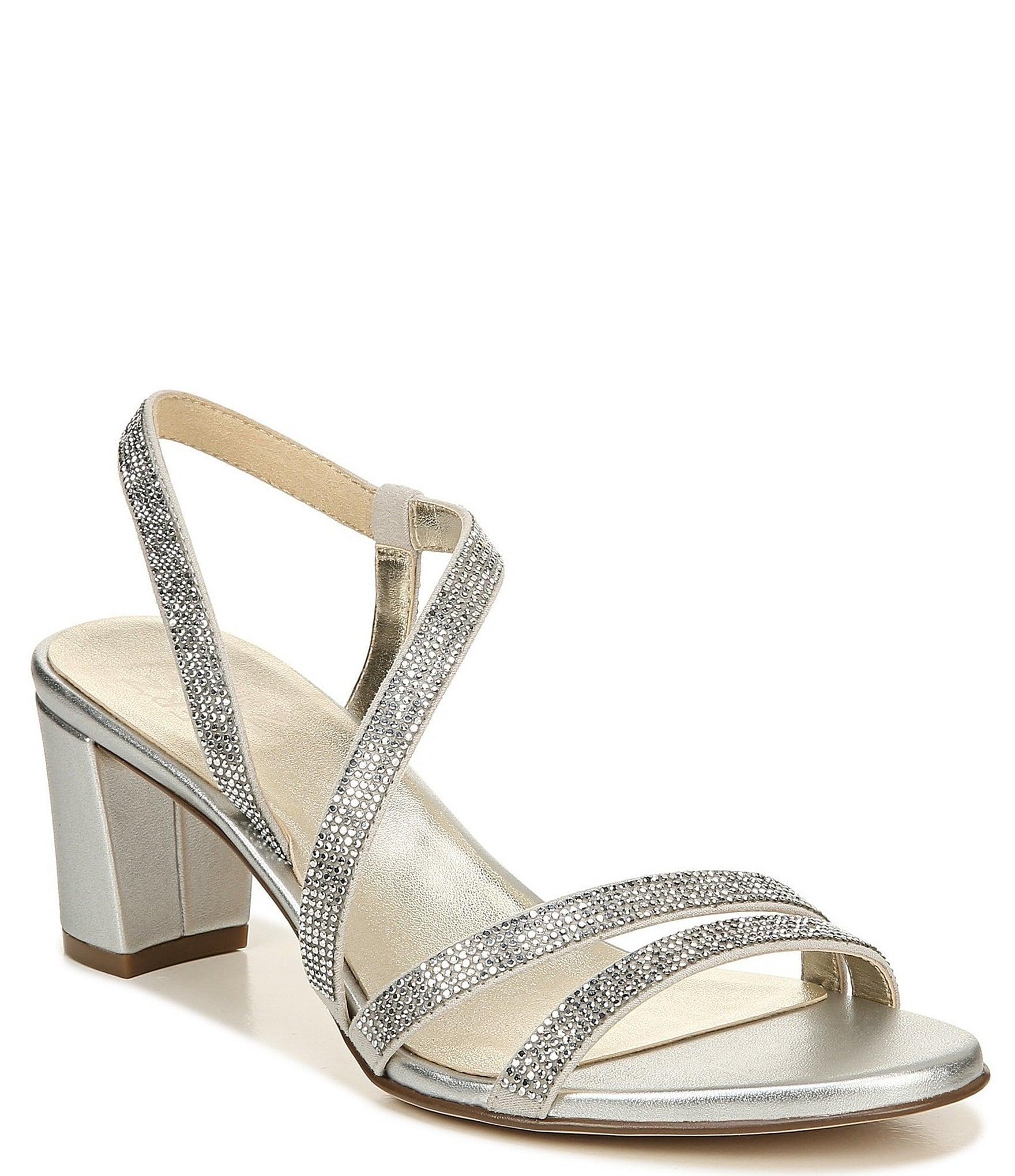 Silver Women's Wide Width Sandals