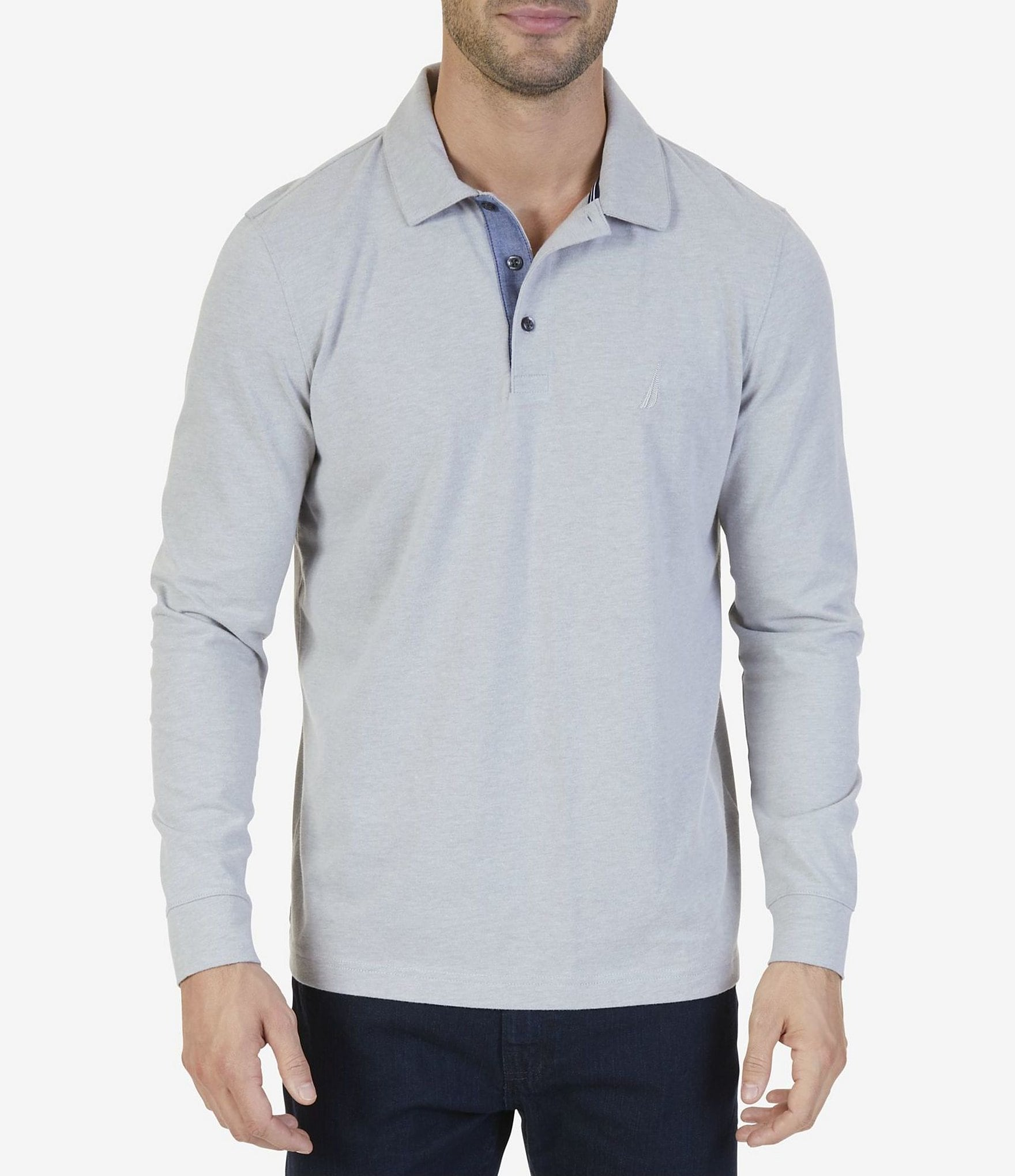 Nautica classic fit long sleeve polo shirt dillards for Long sleeve fitted polo shirts