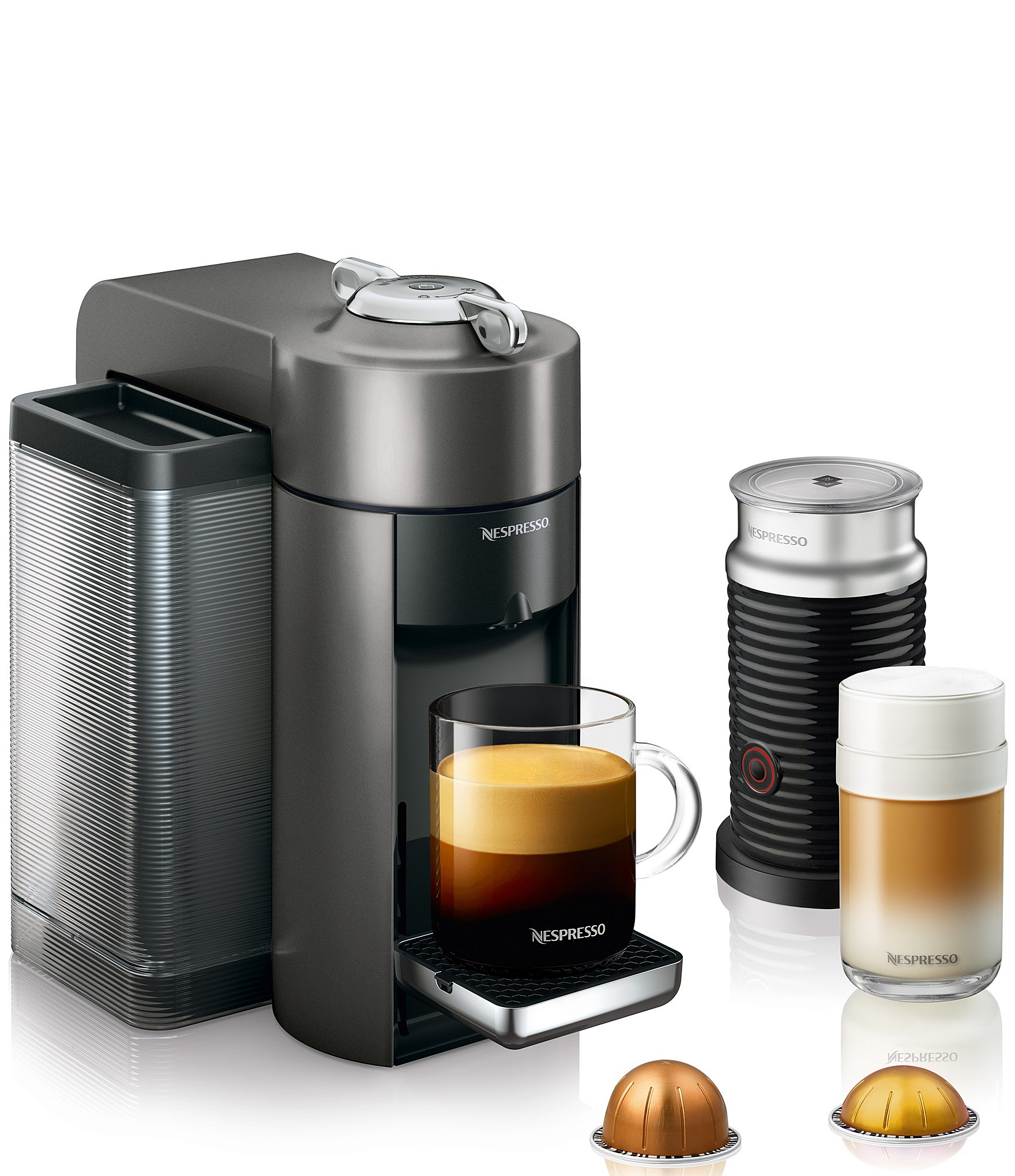 nespresso by delonghi vertuoline evoluo grey bundle coffee. Black Bedroom Furniture Sets. Home Design Ideas