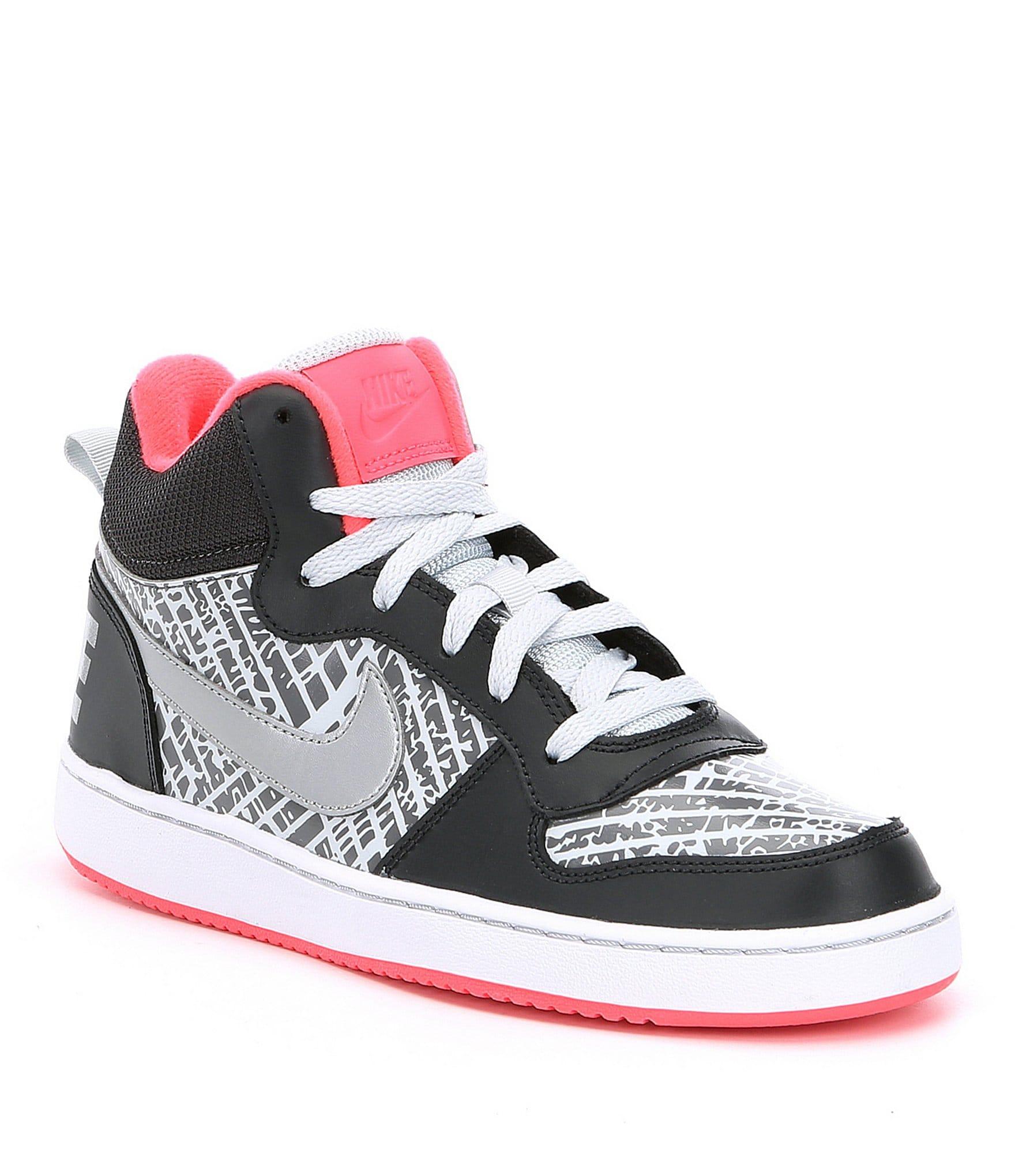nike girls court borough mid lifestyle shoes dillards. Black Bedroom Furniture Sets. Home Design Ideas