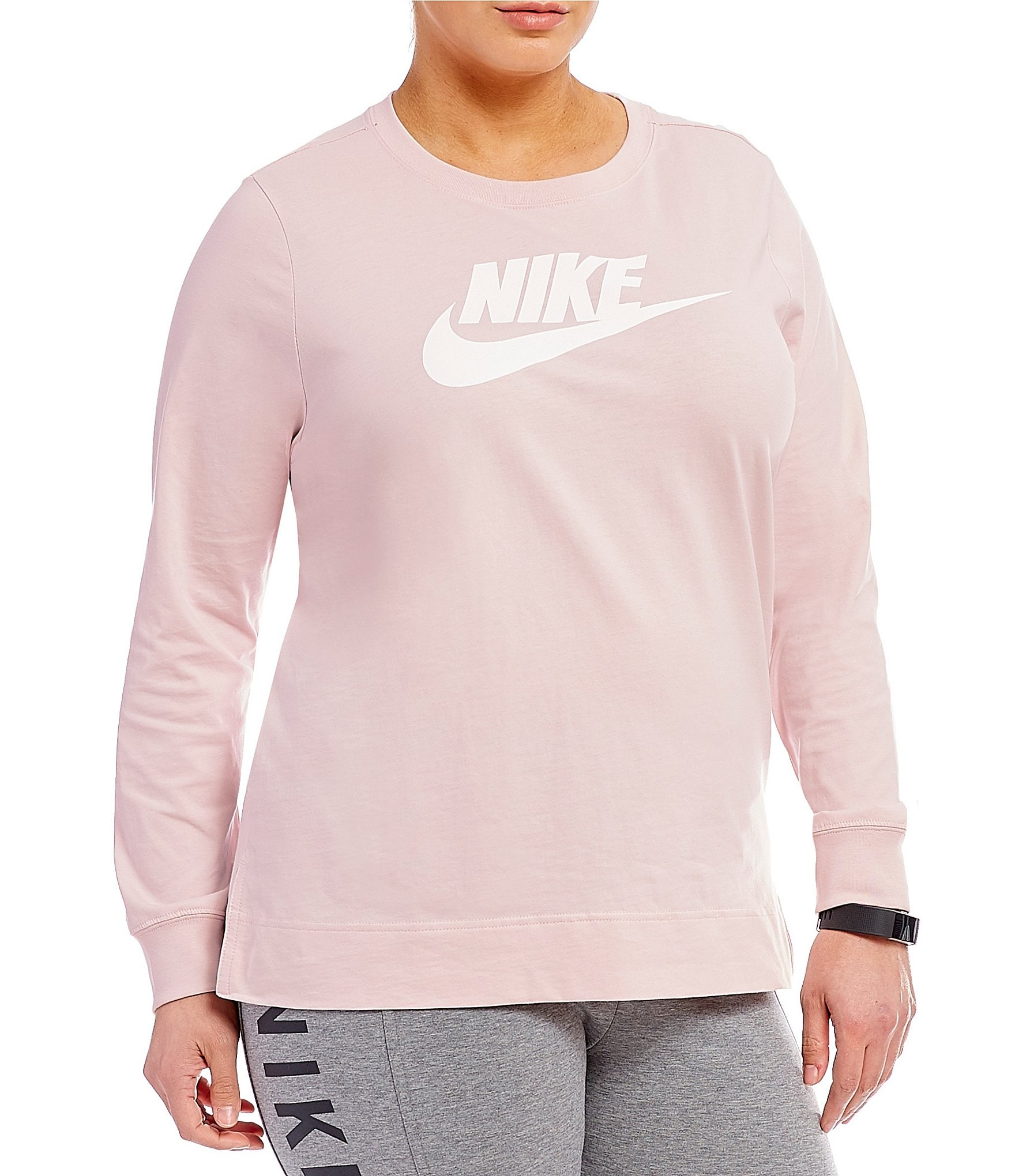 Nike Plus Sportswear Plus Long Sleeve T Shirt Dillards