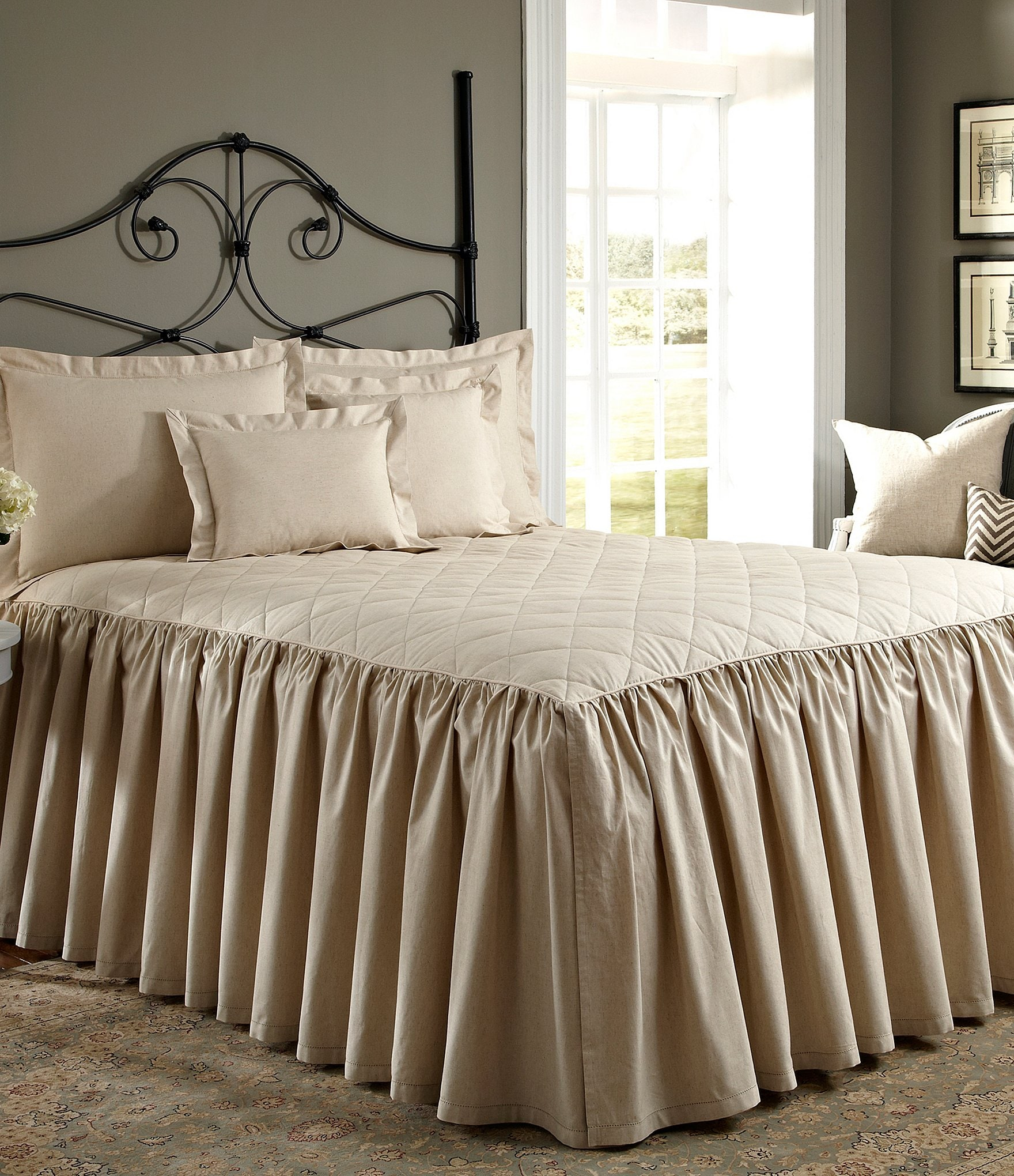 Noble Excellence Villa Quilted Ruffled Bedspread Dillard S
