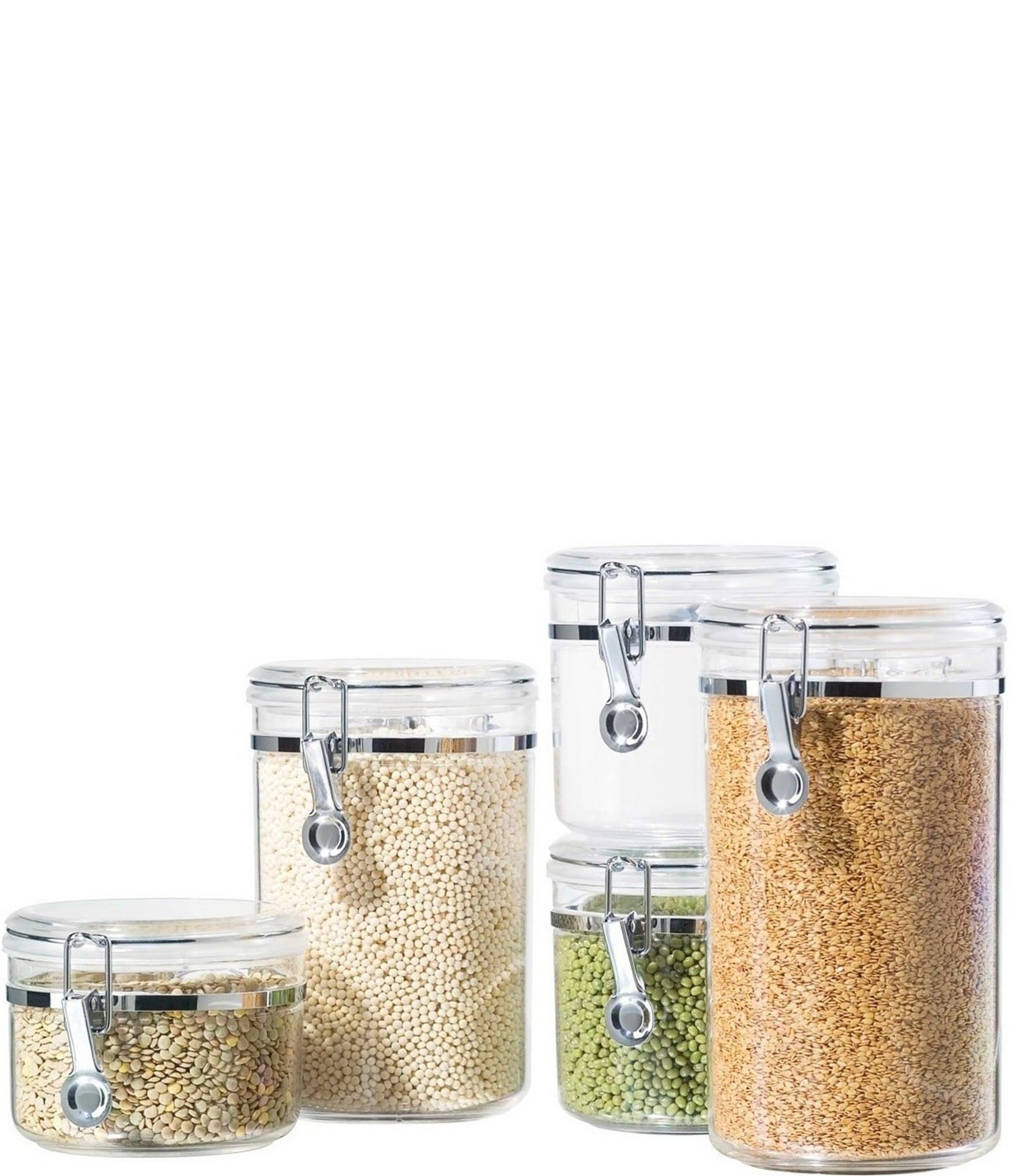 dillards kitchen canisters oggi 5 piece airtight acrylic canister set dillard s 8285