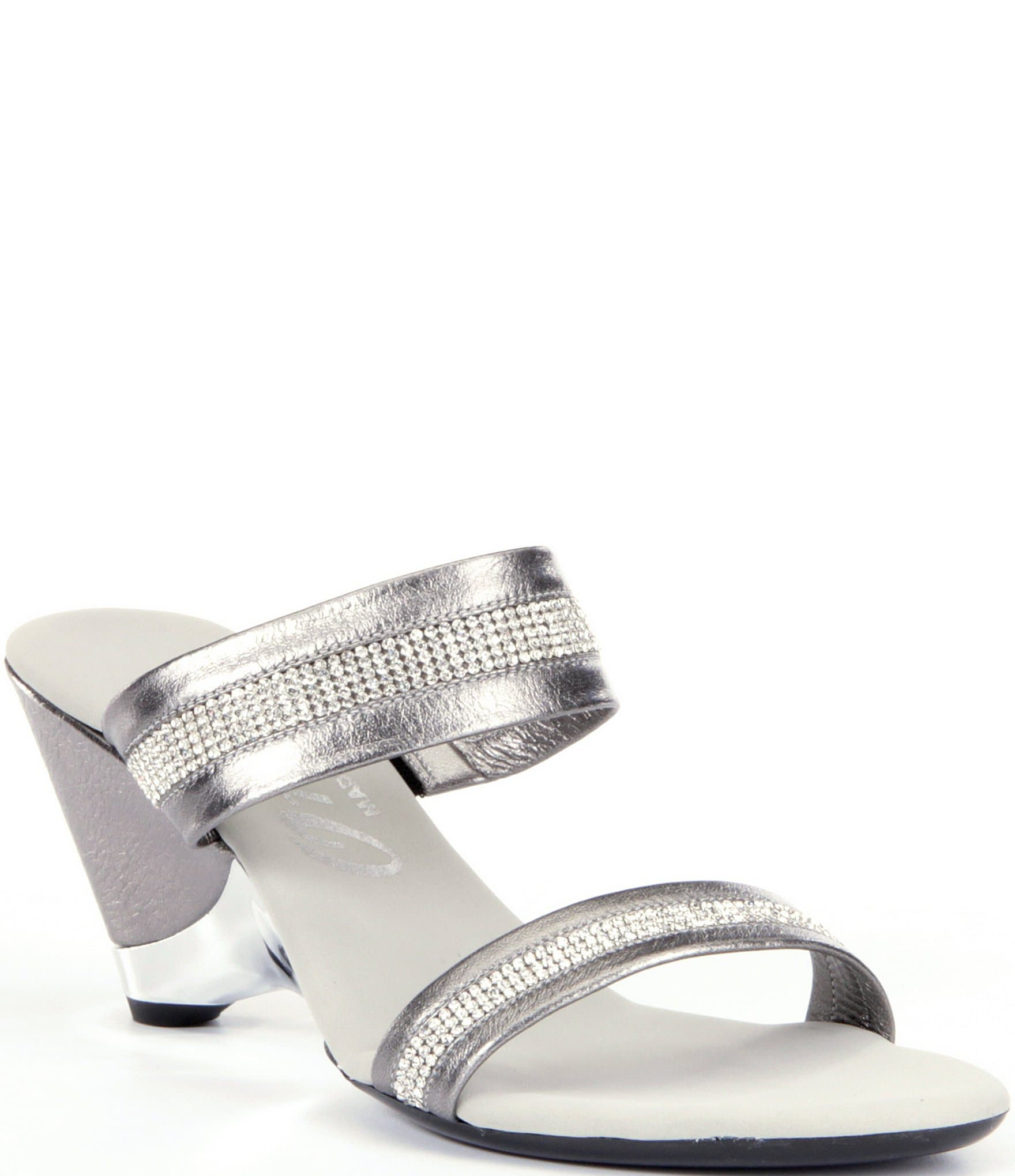 Onex Stunning Jeweled Metallic Leather Wedge Dress Sandals Dillards