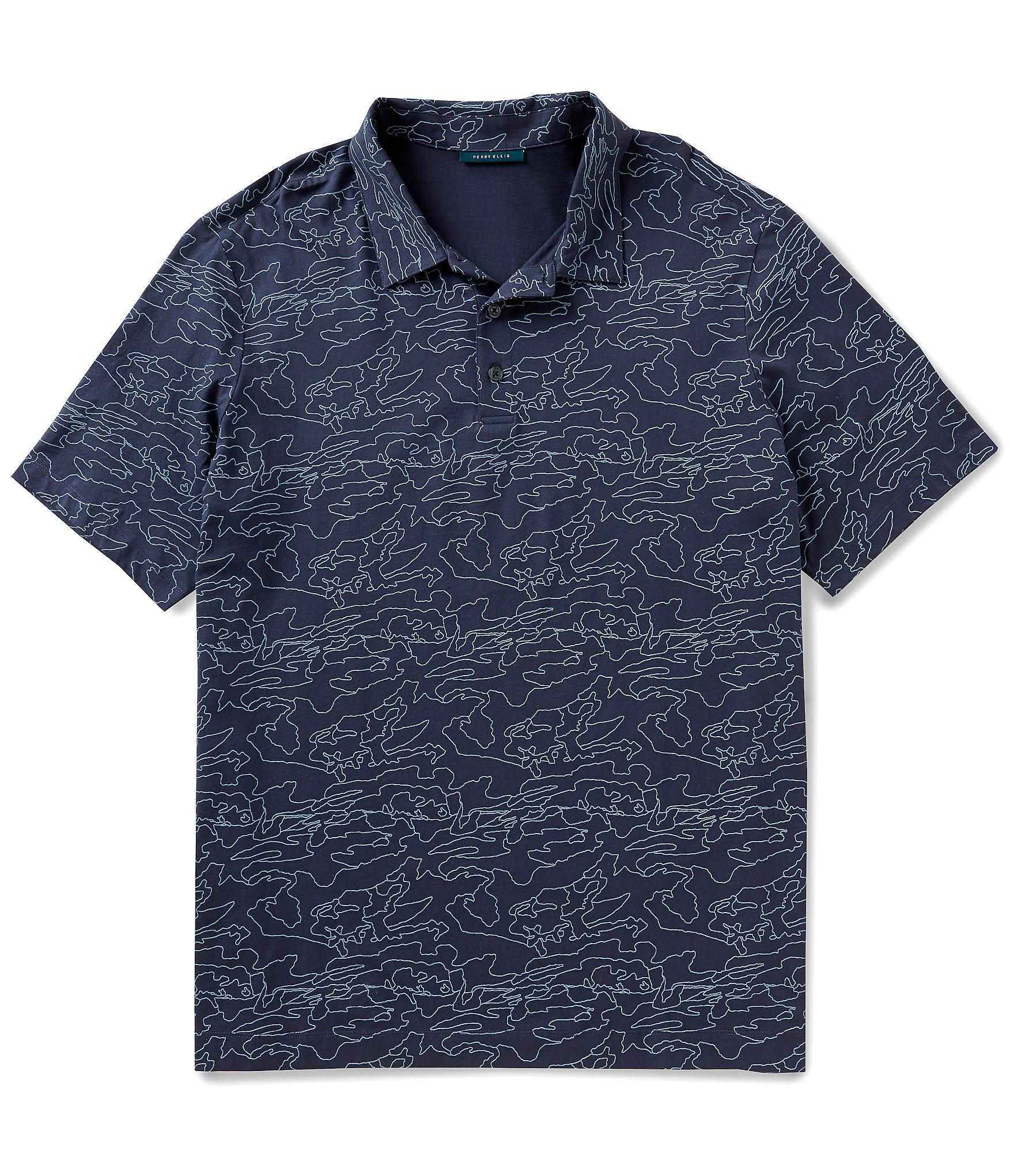 Perry Ellis Big Tall Camo Short Sleeve Polo Shirt Dillards