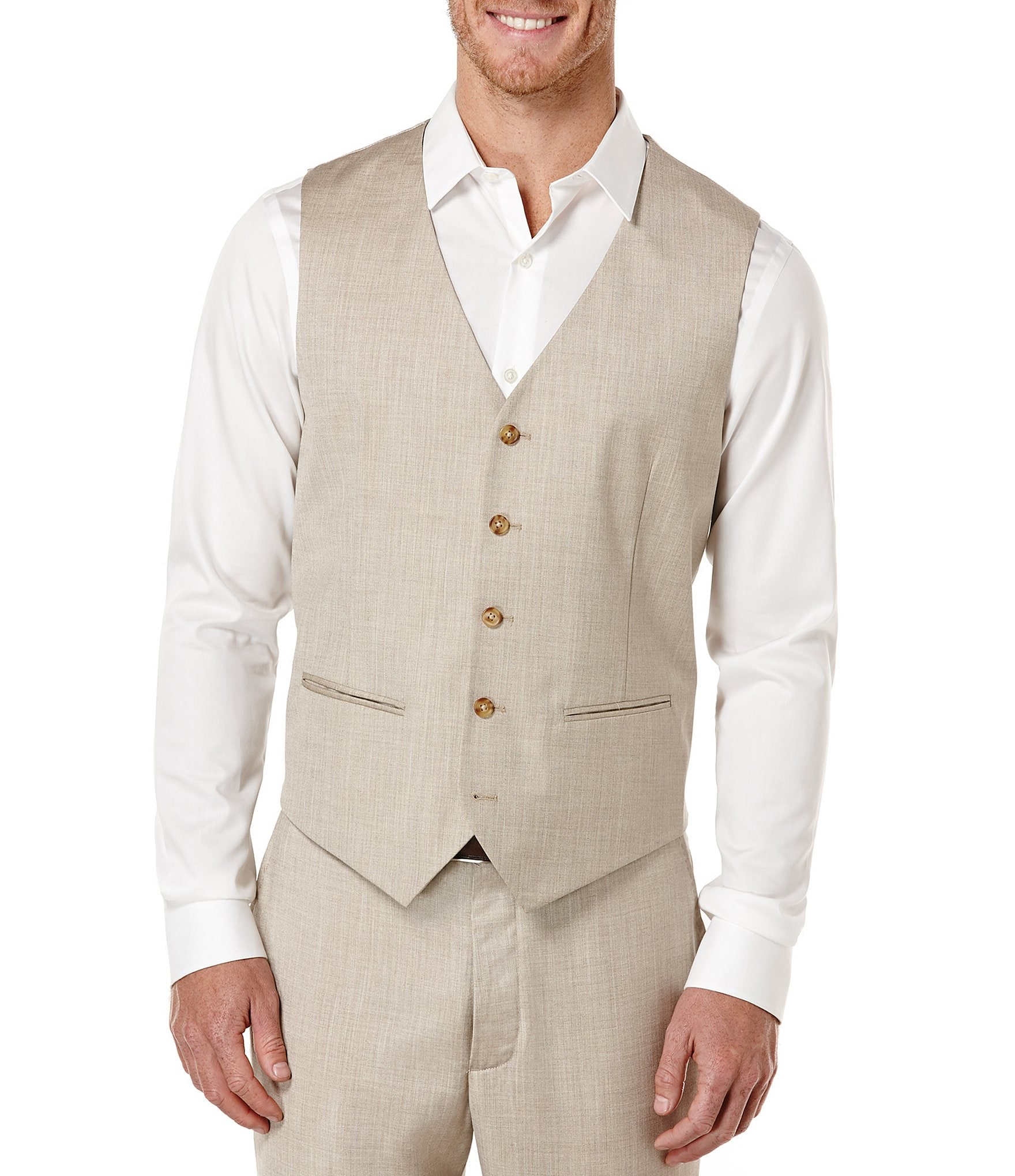 Perry Ellis Big Amp Tall Herringbone Vest Dillards