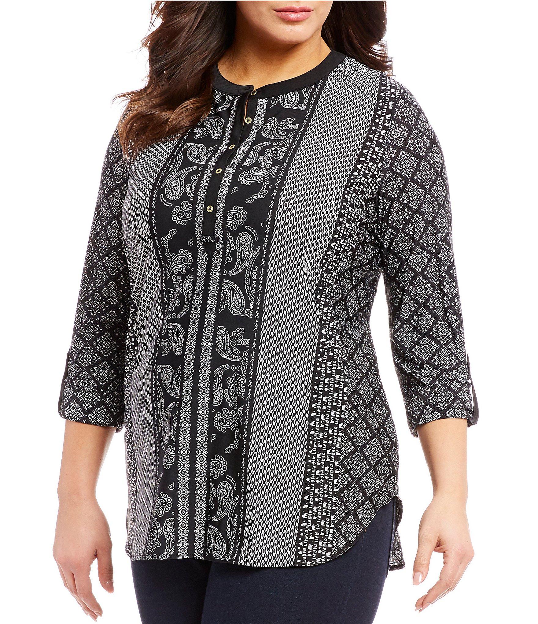 4bb4ed1cefccc Peter Nygard Black Plus-Size Knit Tops   Tees