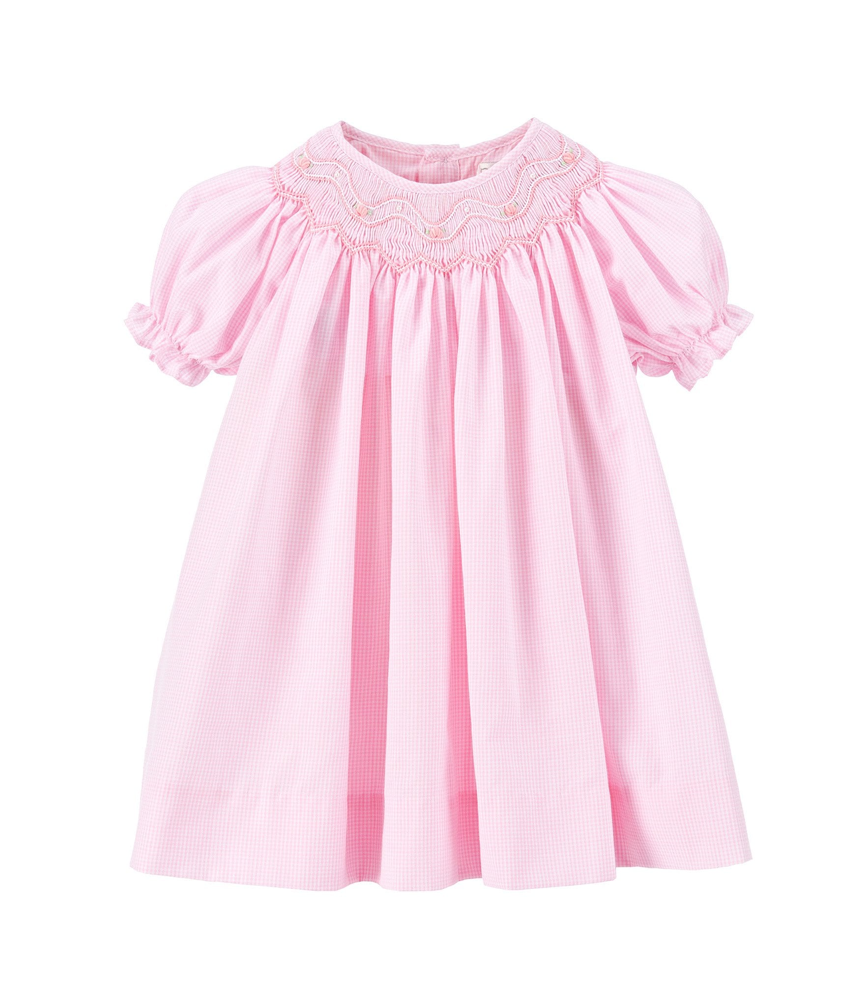 Girl's smocked dresses, 12M clothing, size 12 month smocked clothes, cotton dresses, baby girl's basic clothing, high end appliqued outfits, and 12 M boutique baby girl's clothes. Size 12M Christmas and Easter dresses, birthday outfits, and trendy girl's clothing.