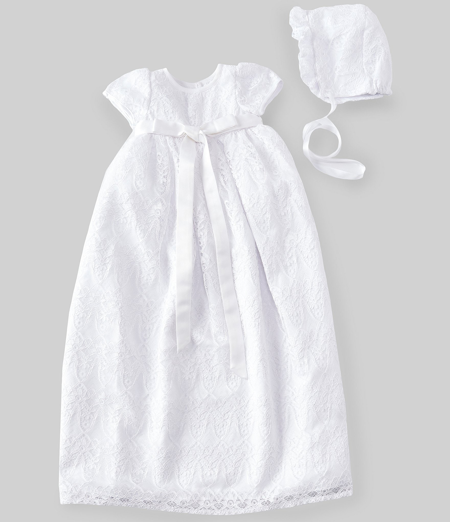52c78ce7bd120 Pippa & Julie Baby Girls Newborn-24 Months Lace Christening Gown