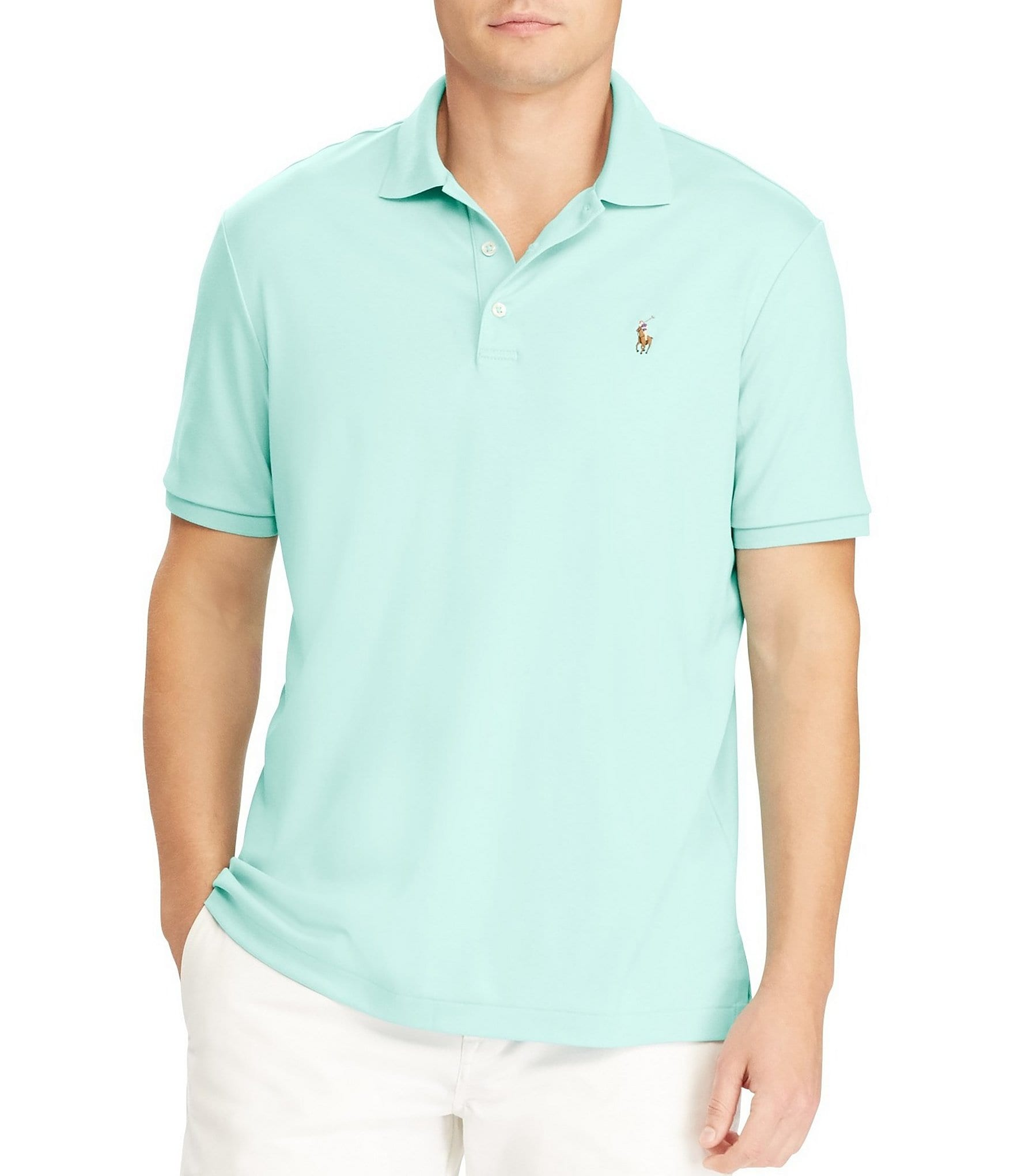 Polo ralph lauren big tall classic fit cotton soft solid for Tall ralph lauren polo shirts