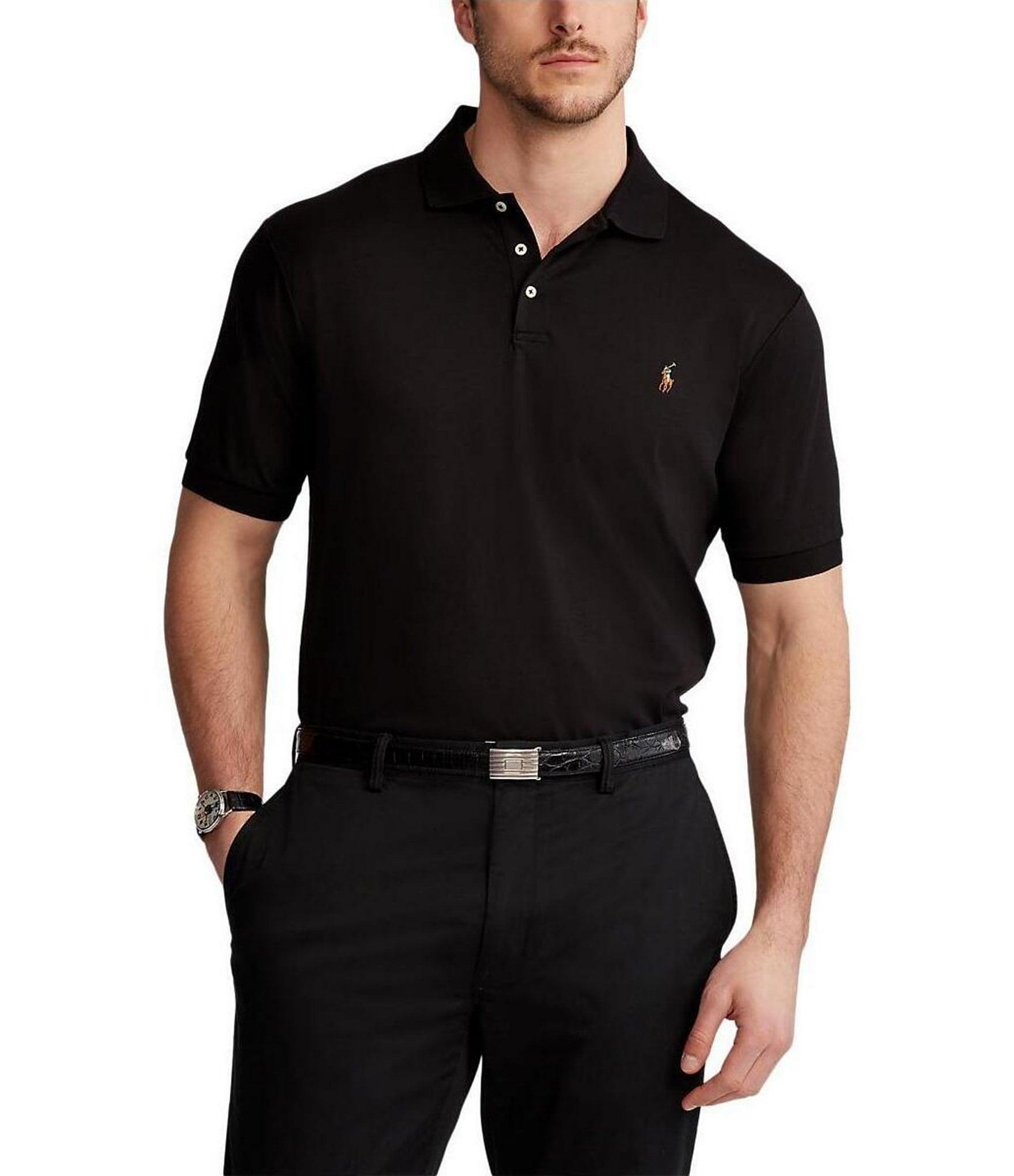 black polo t shirt mens