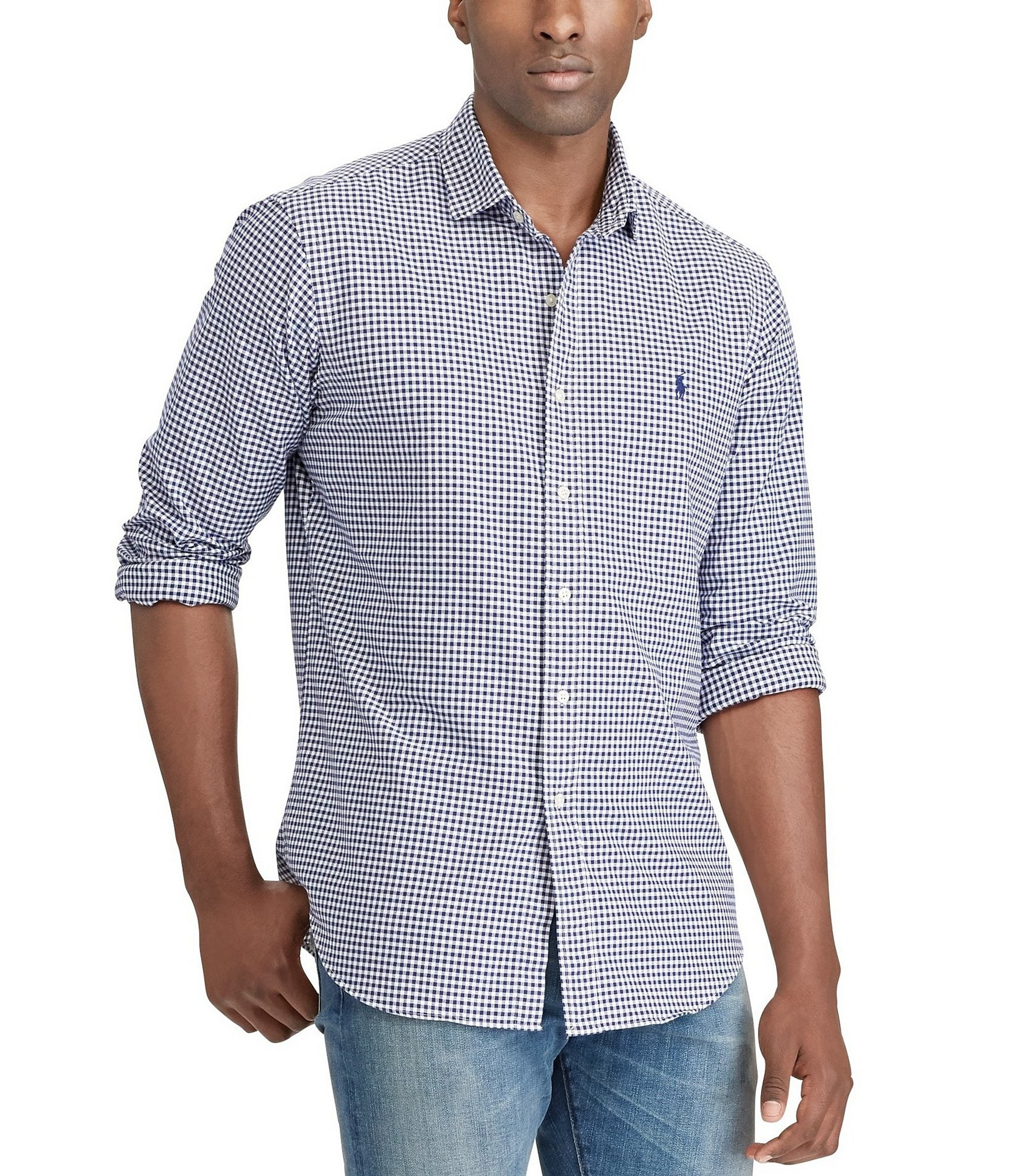 Polo Ralph Lauren Big Tall Gingham Oxford Long Sleeve