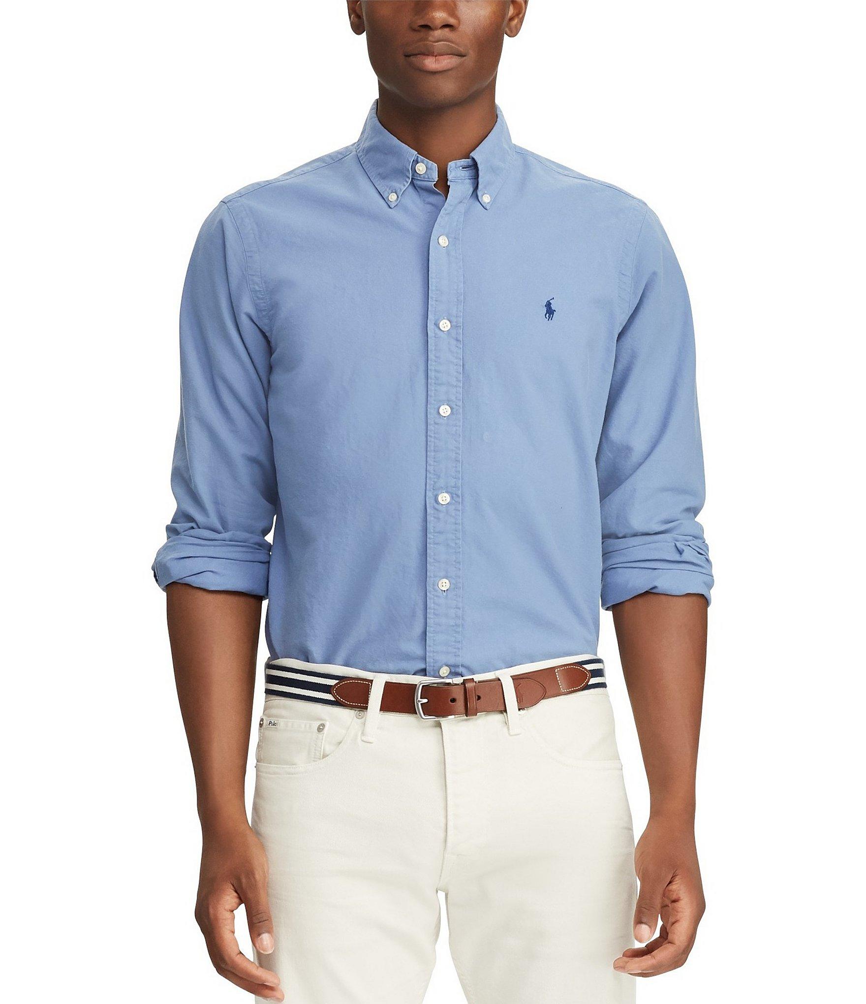 baa2a786 Polo Ralph LaurenBig & Tall Solid Garment-Dye Oxford Long-Sleeve Woven Shirt