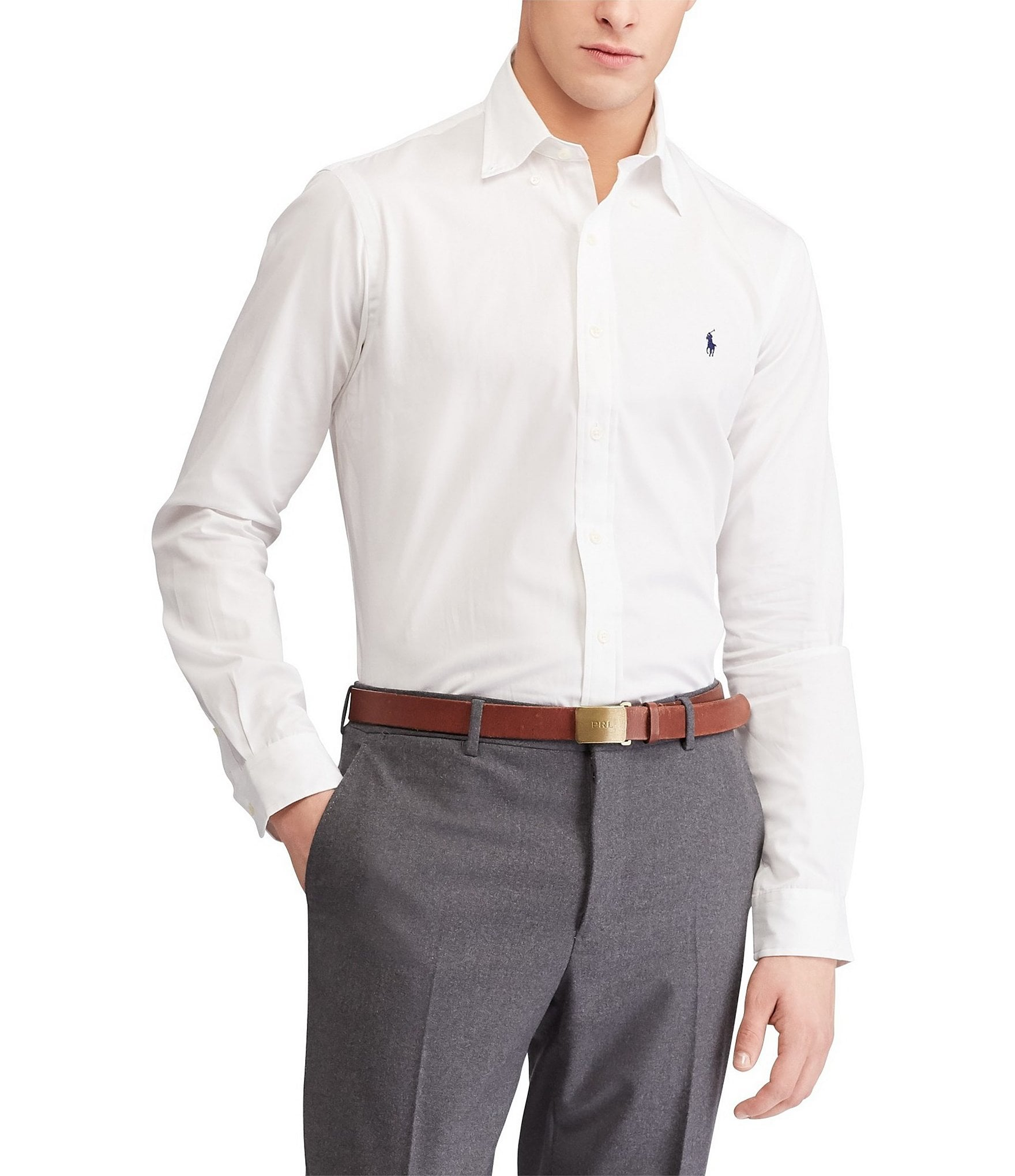 Mens Long Sleeved Stretch Poplin Shirt by Duck and Cover /'Raginald/'