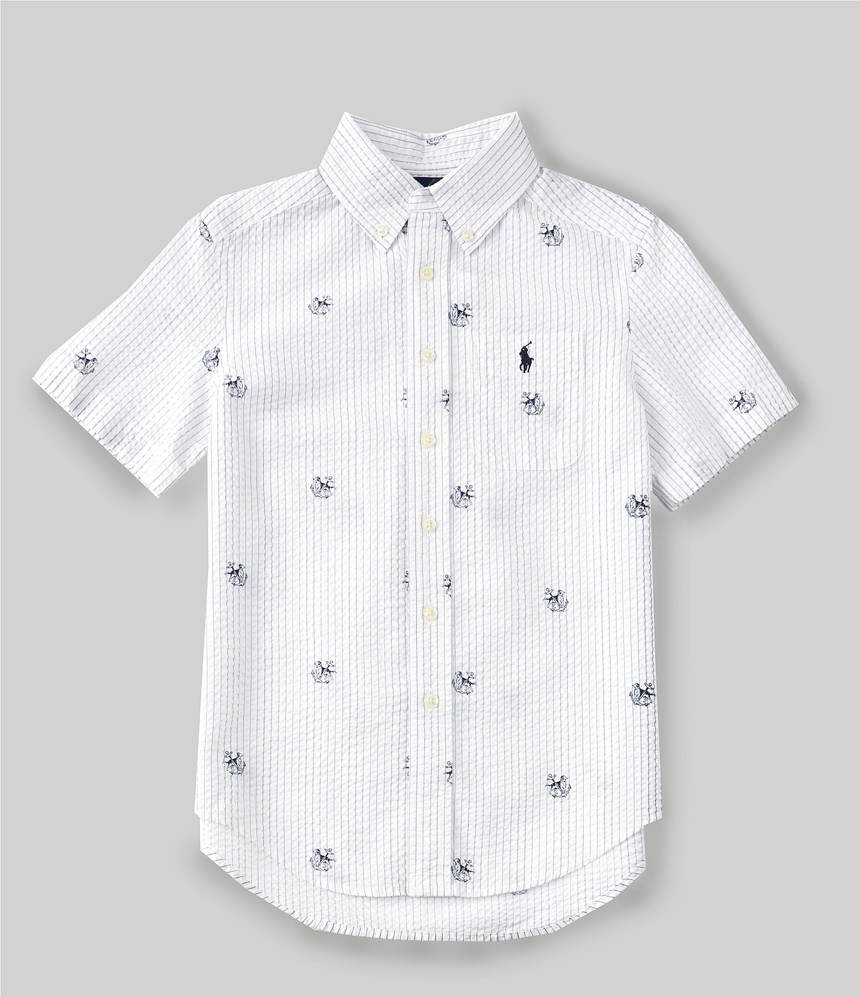 ralph lauren seersucker shirt white
