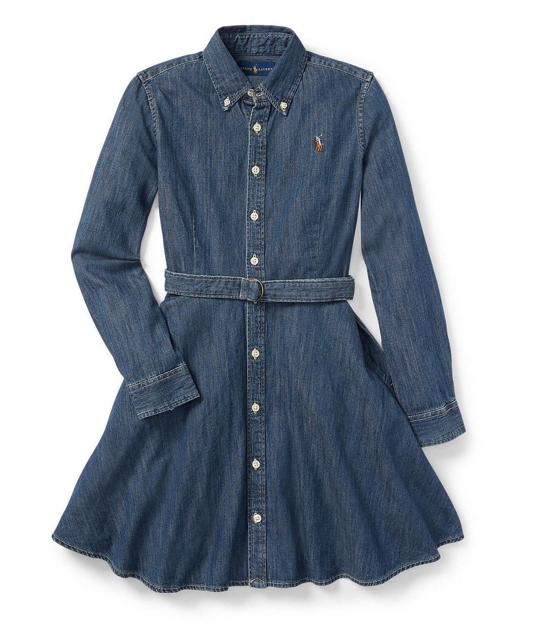 Polo Ralph Lauren Big Girls 7-16 Belted Denim Shirt Dress | Dillard's