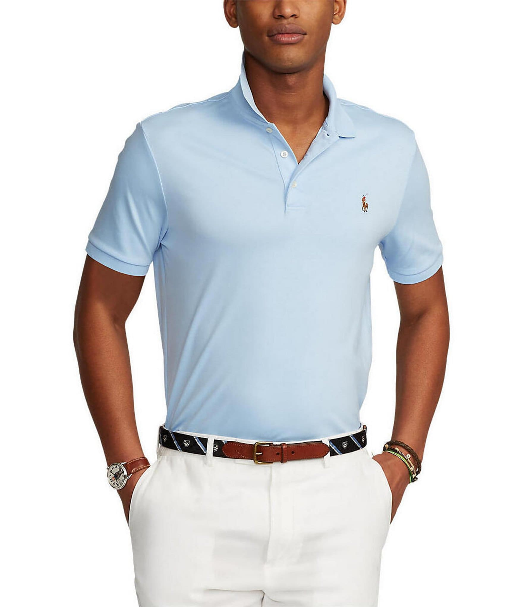 55c14f9bc31ce Polo Ralph LaurenClassic-Fit Cotton Soft Short-Sleeve Solid Polo Shirt