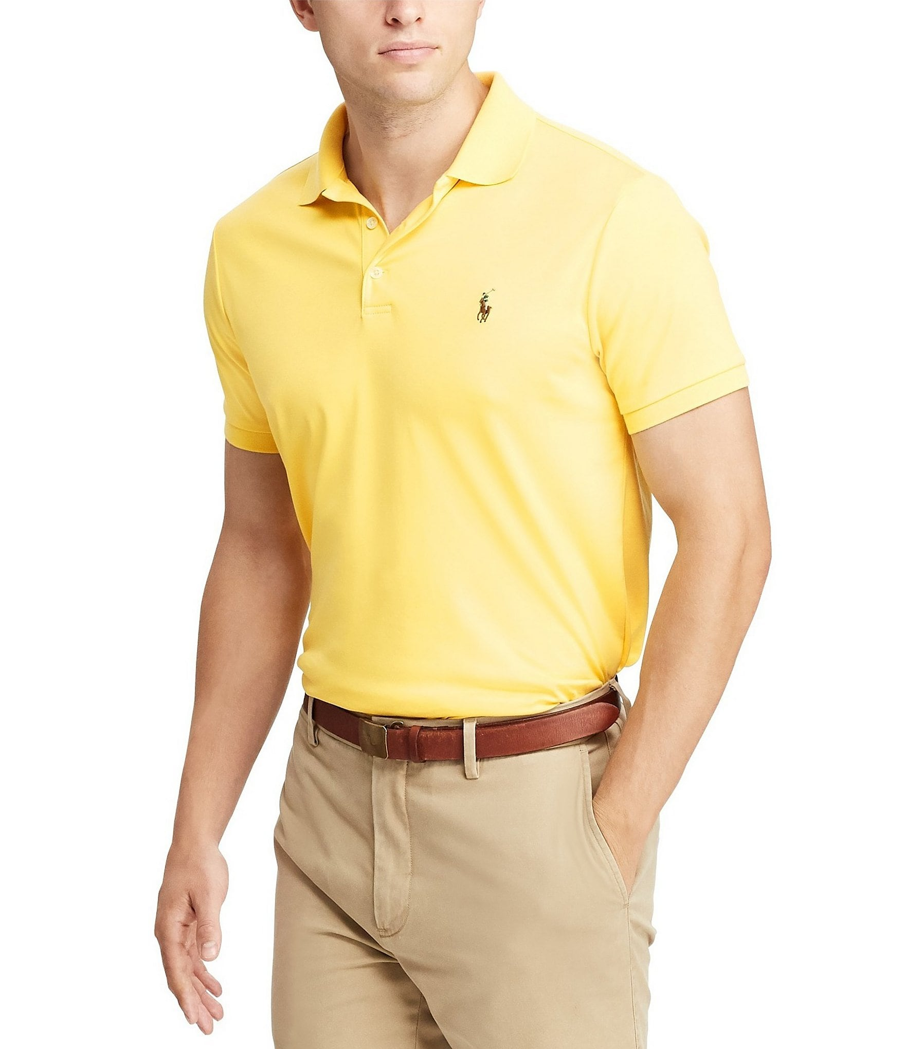 087c5d2d59f7 Yellow Men s Casual Polo Shirts