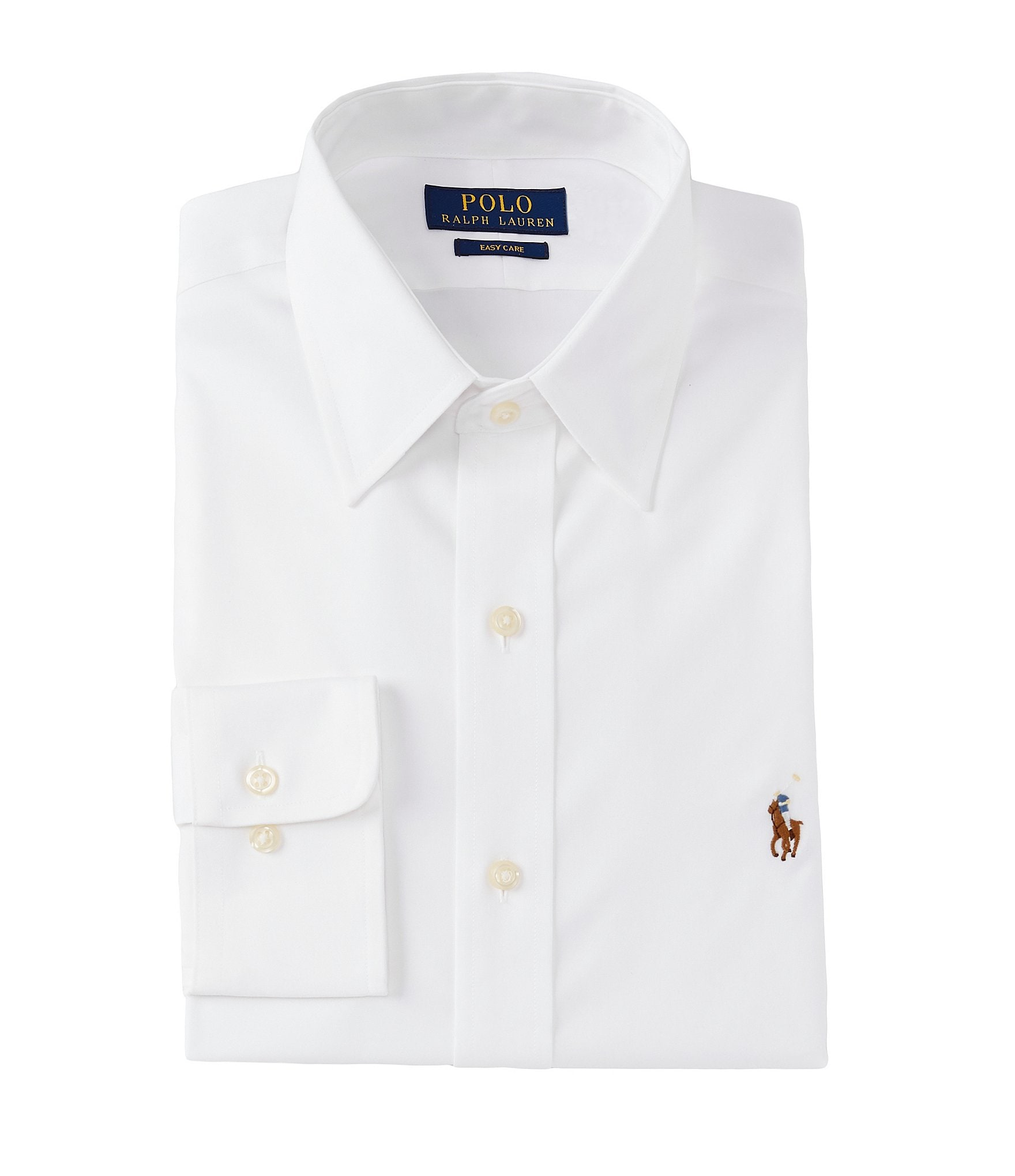Polo Ralph Lauren Classic Fit Point Collar Solid Oxford Dress Shirt