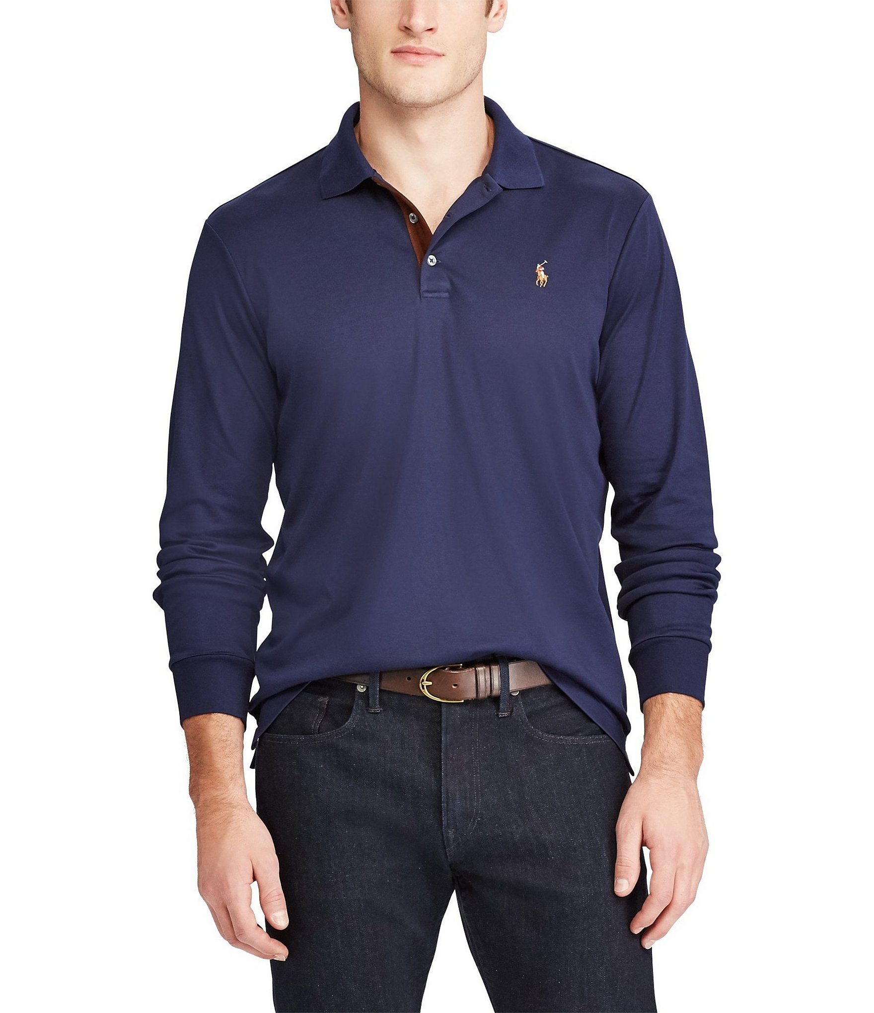 Polo ralph lauren classic fit soft touch long sleeve polo for Long sleeve fitted polo shirts