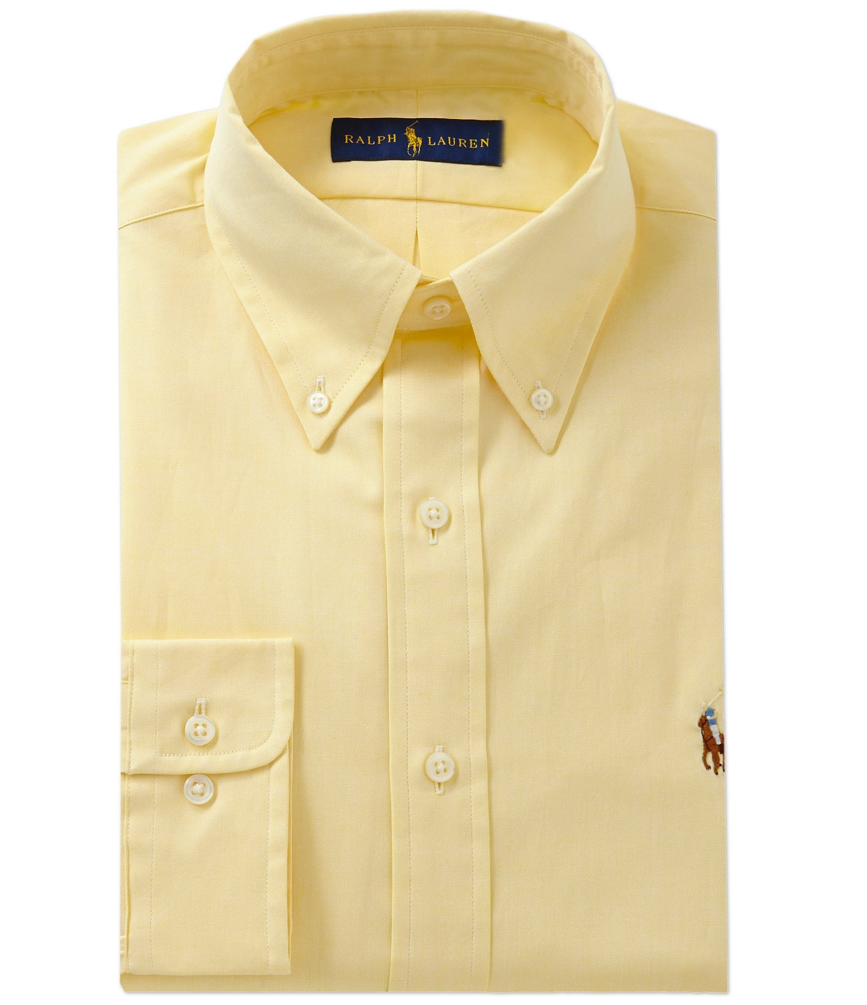 Polo ralph lauren classic fit solid oxford dress shirt for Mens polo dress shirts