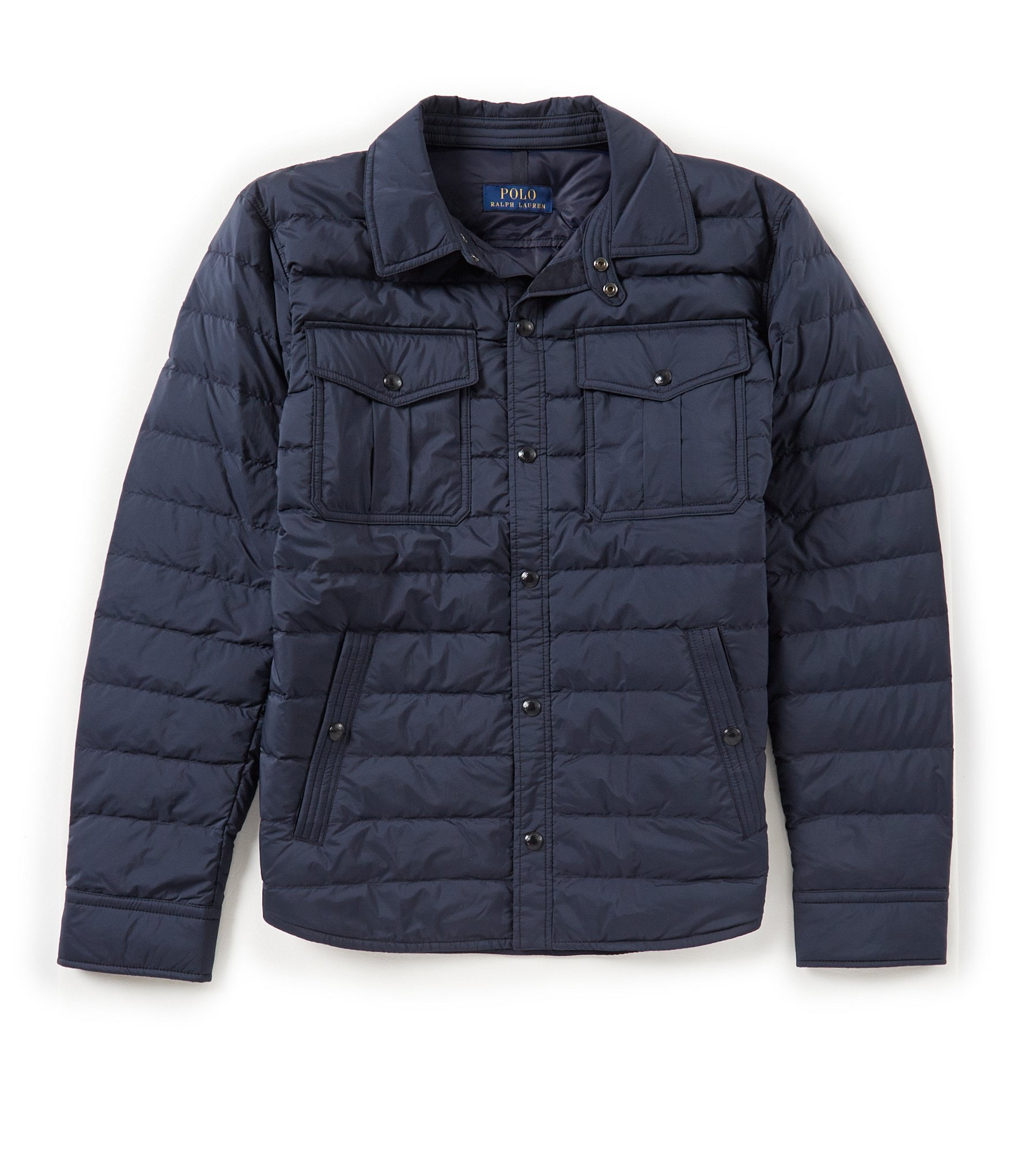 polo ralph lauren quilted down shirt jacket dillards