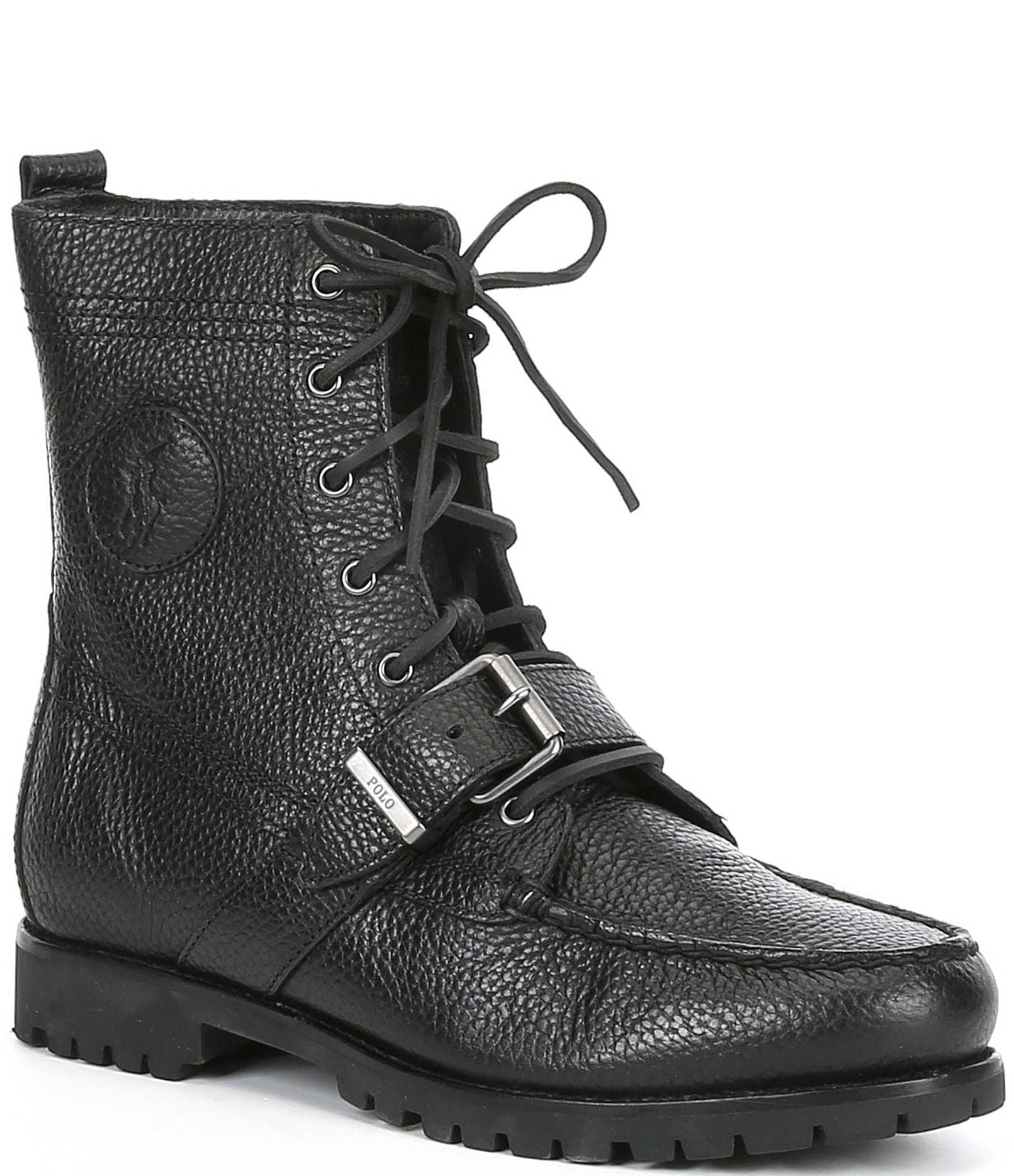 aaa21649 Polo Ralph Lauren Men's Ranger Leather Buckle Boots | Dillard's