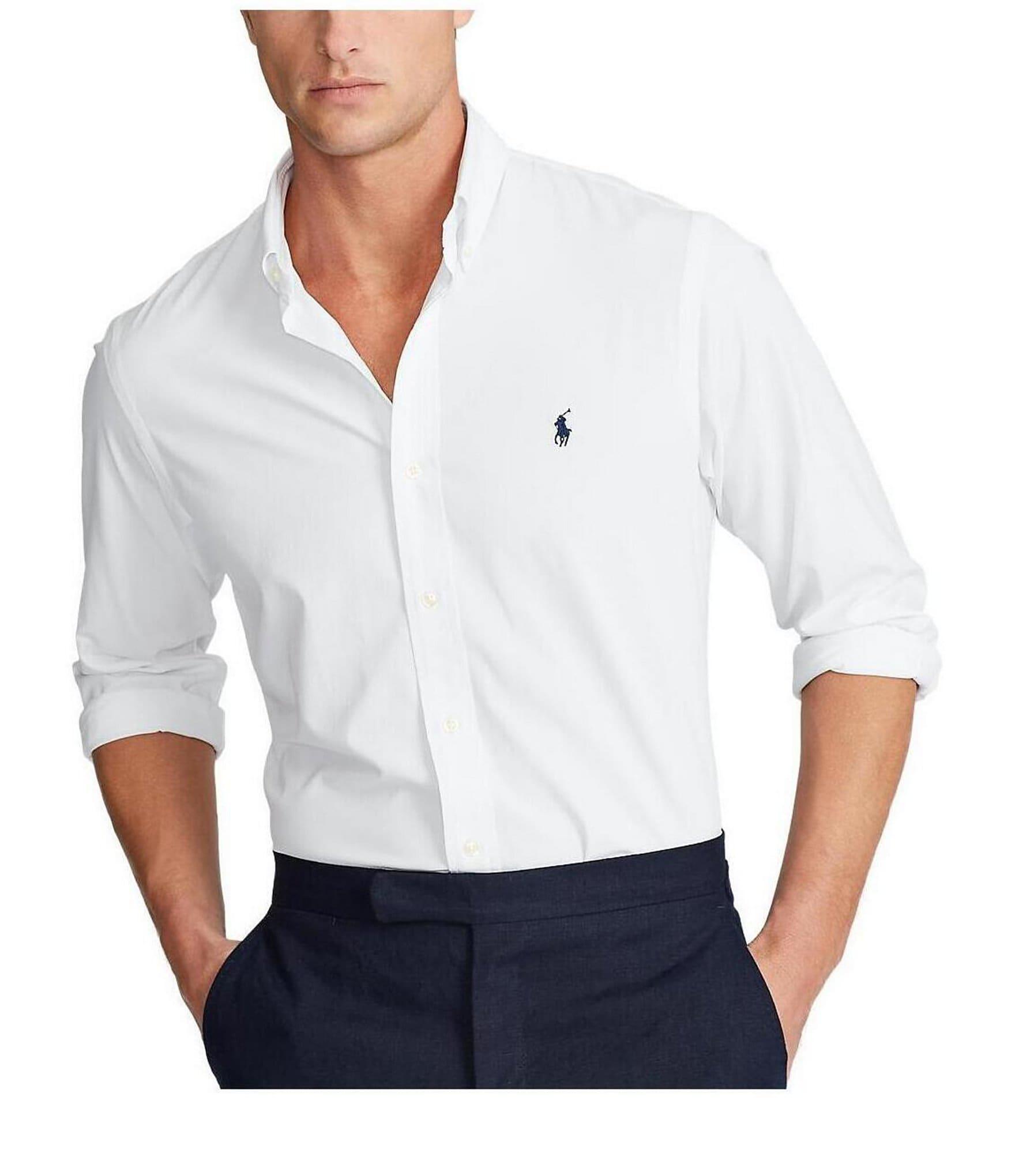 mens white polo dress shirt cheap online