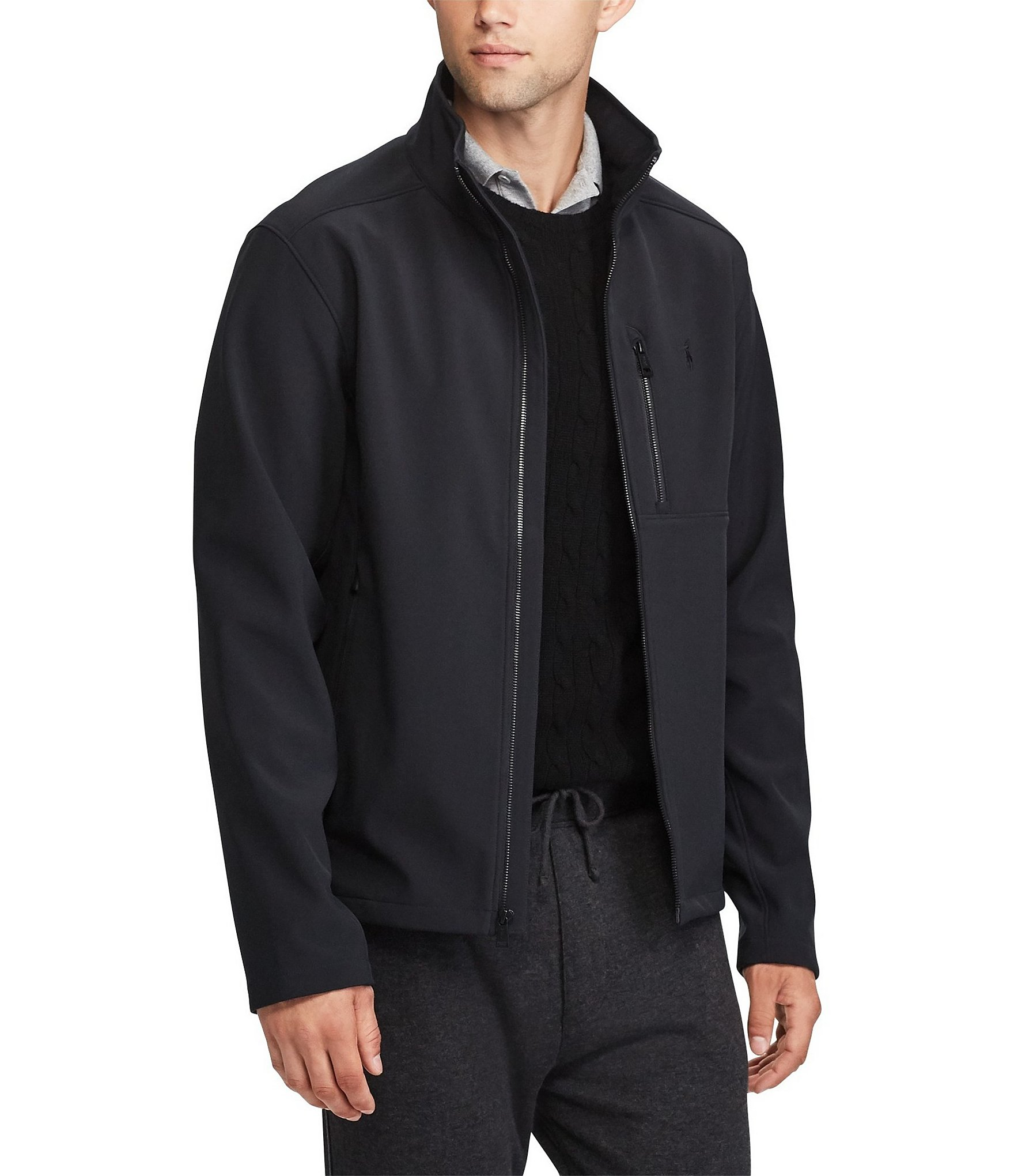 polo ralph lauren water repellent jacket dillards. Black Bedroom Furniture Sets. Home Design Ideas