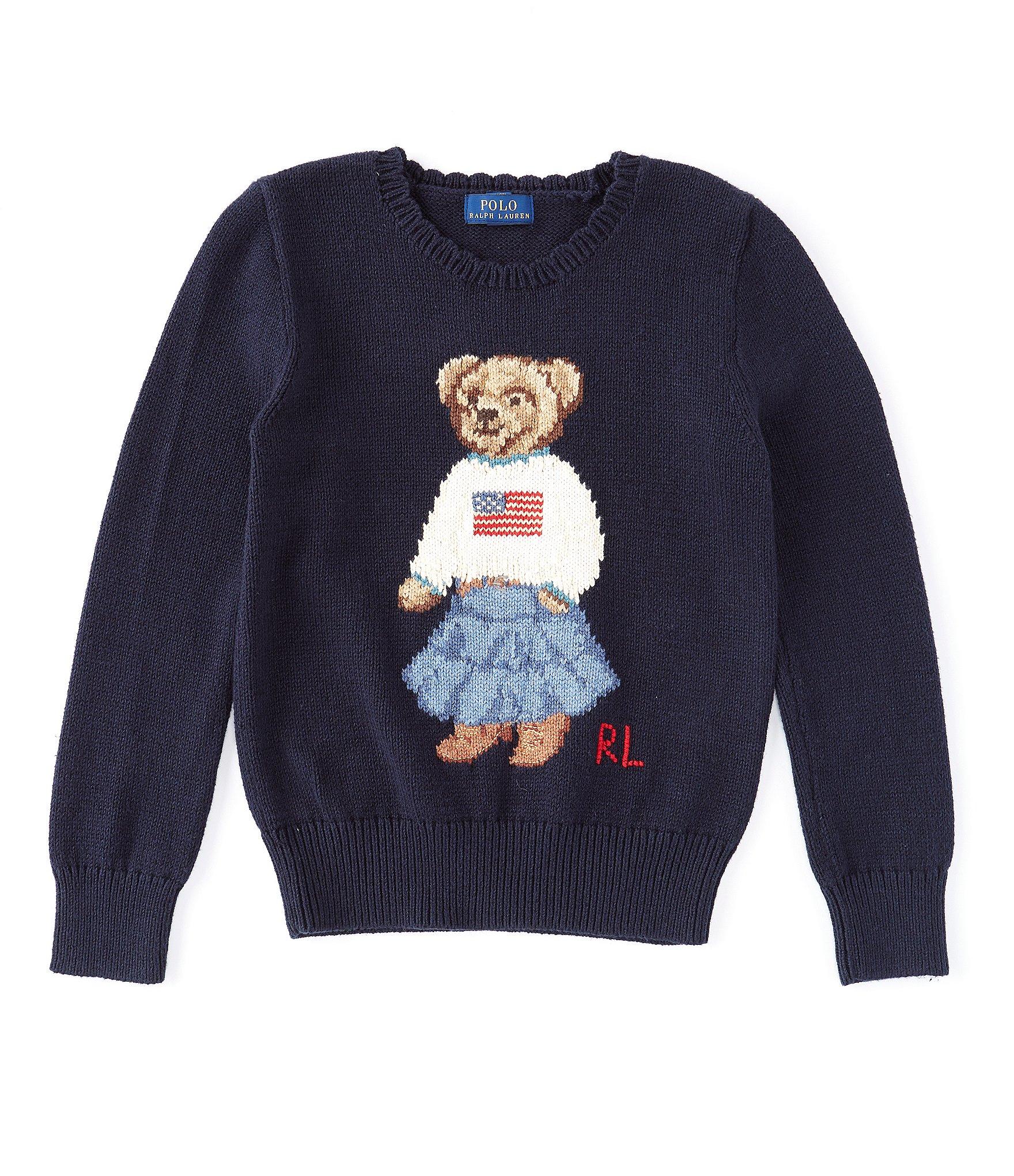 3585ab95b2 Ralph by Ralph Lauren Big Girls 7-16 Polo Bear Flag Sweater