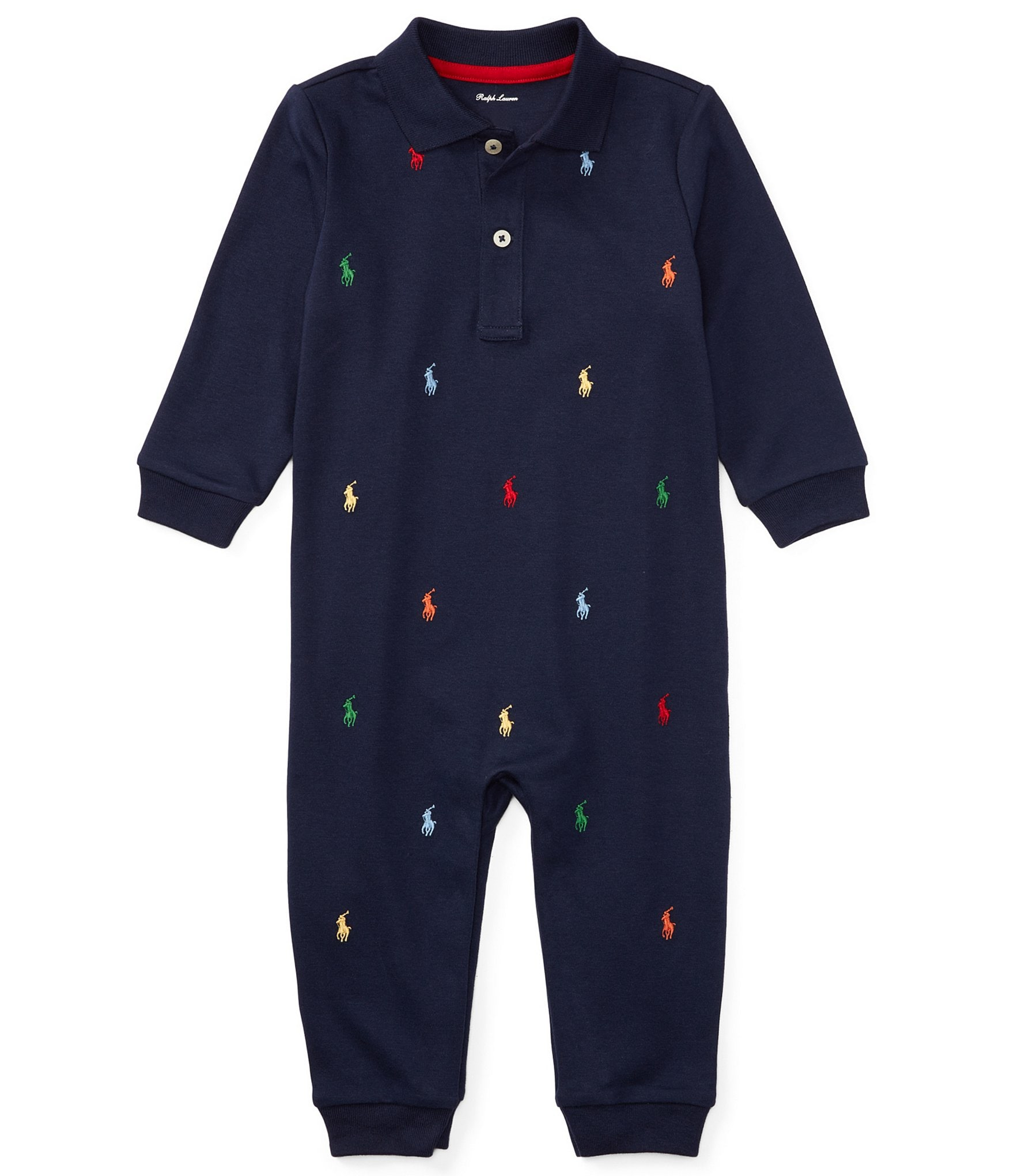 5f0c4fcb8 Ralph Lauren Childrenswear Baby Boys Newborn-12 Months Schiffli-Embroidered  Coverall