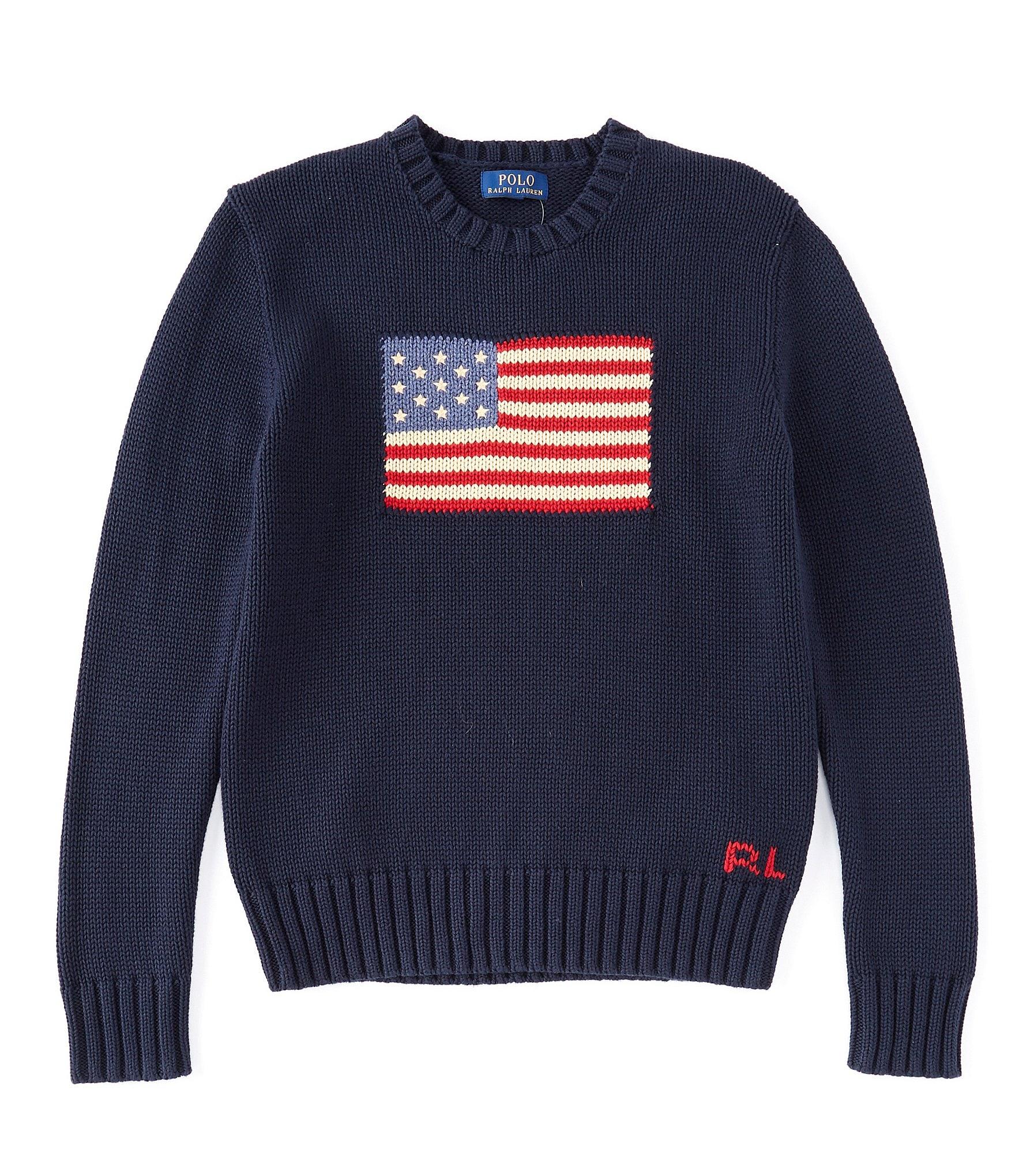 7b150349c5 Ralph Lauren Childrenswear Big Boys 8-20 American Flag Sweater