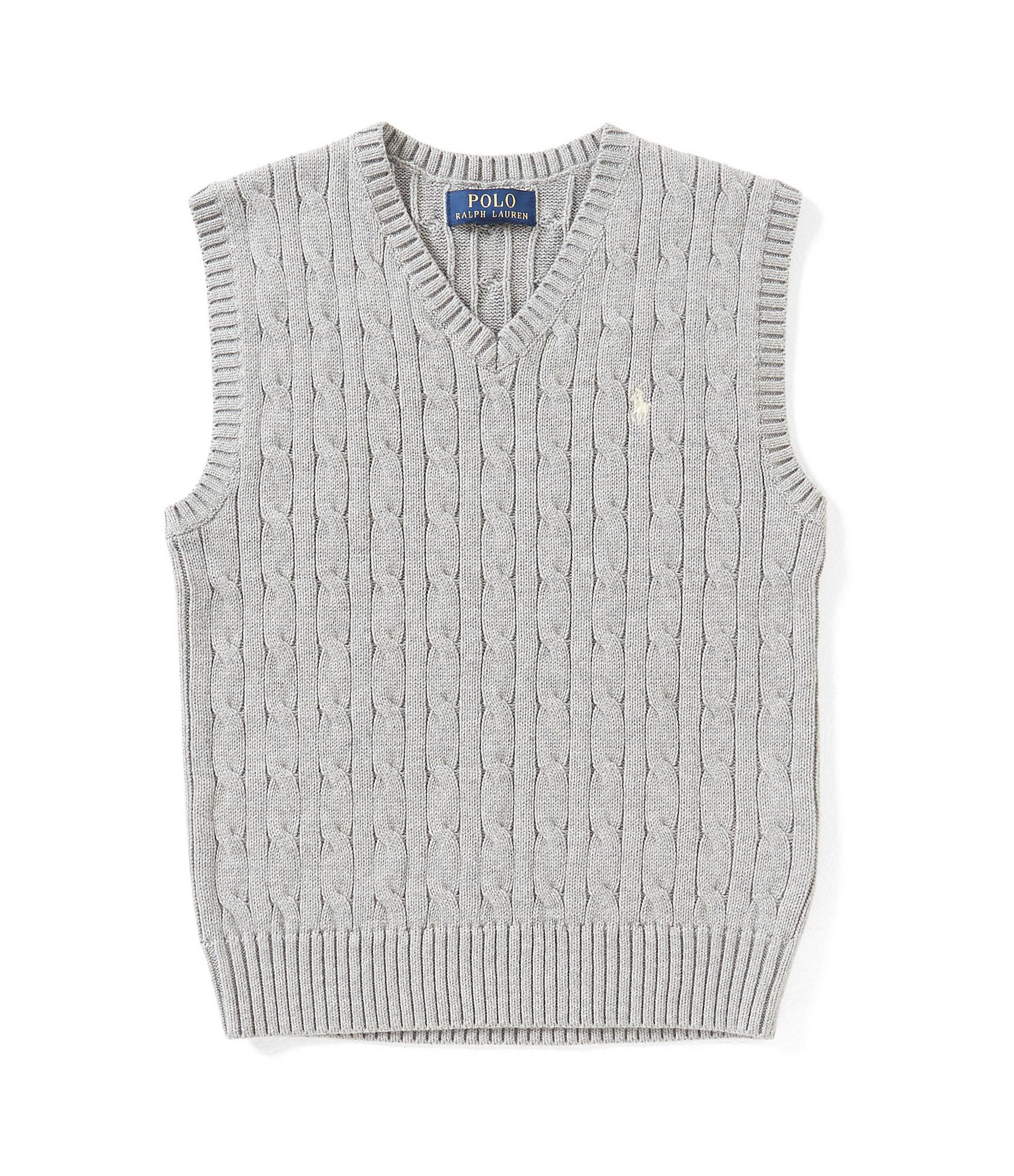 Ralph Lauren Childrenswear Big Boys 8-20 Cable-Knit Sweater Vest ...
