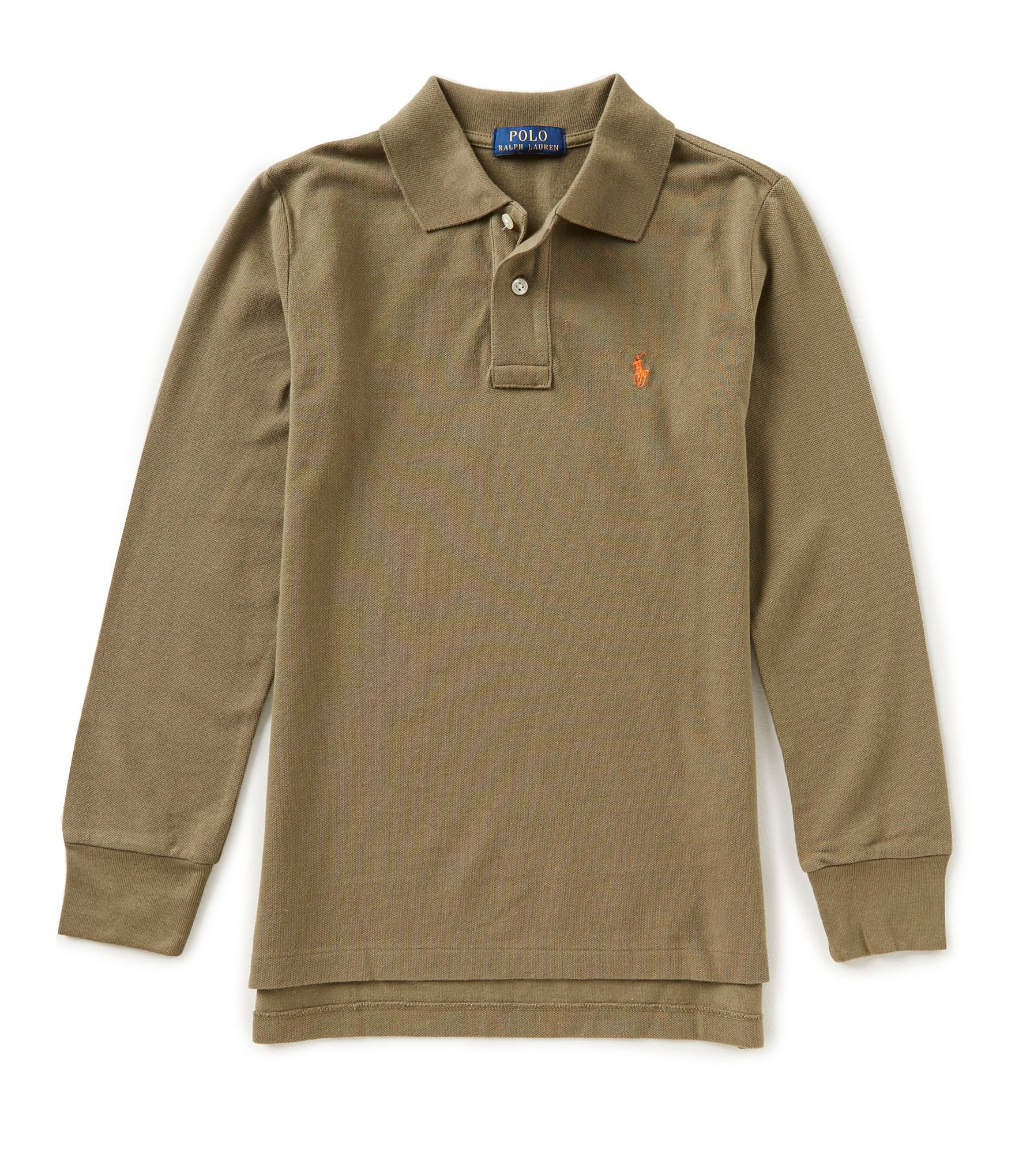 Ralph lauren childrenswear big boys 8 20 long sleeve mesh for Lightweight breathable long sleeve shirts