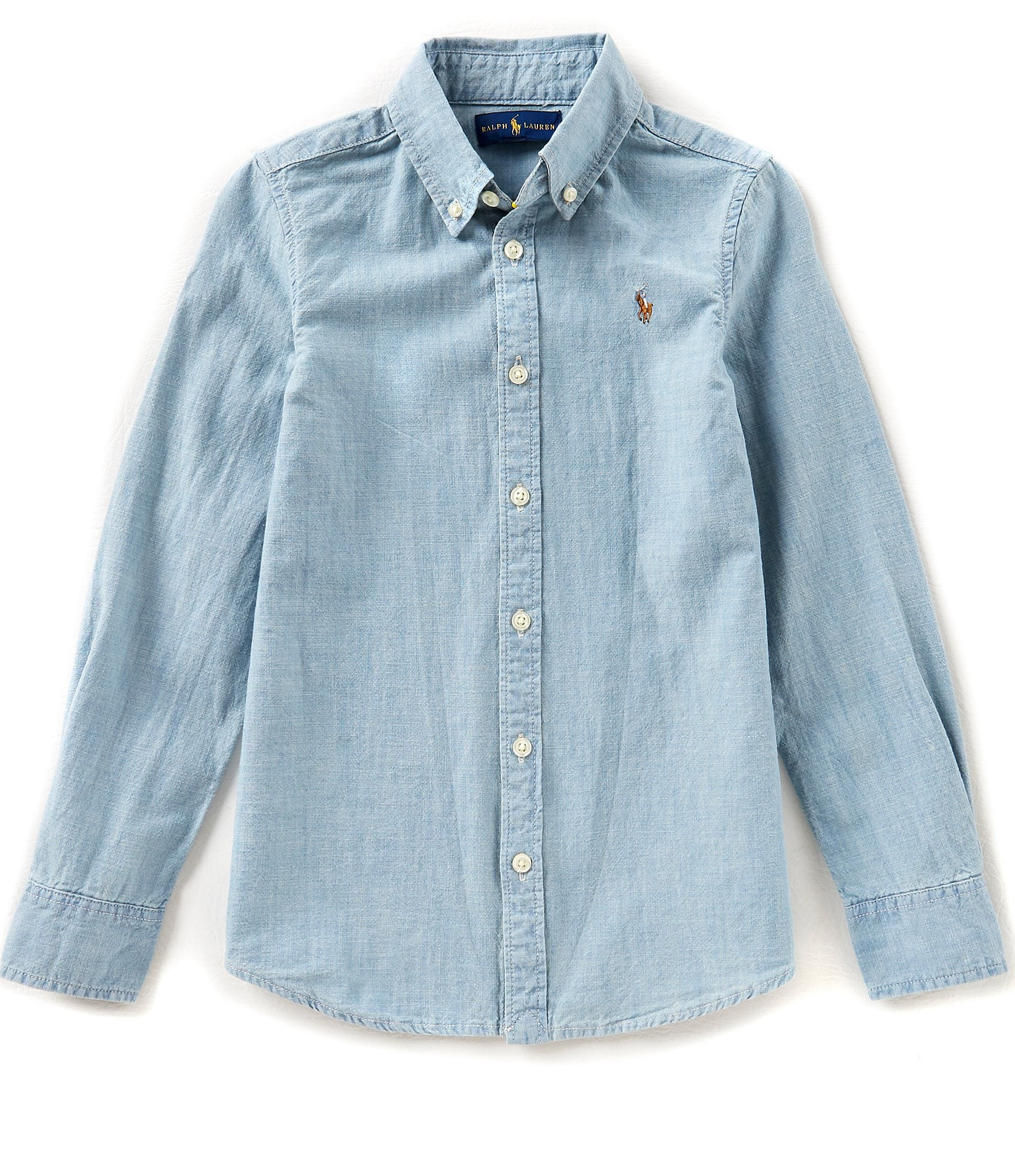 Ralph lauren childrenswear big girls 7 16 long sleeve for Chambray 7 s